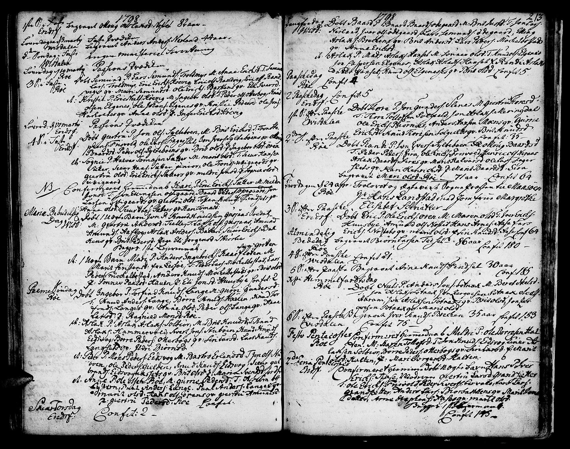 SAT, Ministerialprotokoller, klokkerbøker og fødselsregistre - Møre og Romsdal, 551/L0621: Ministerialbok nr. 551A01, 1757-1803, s. 213