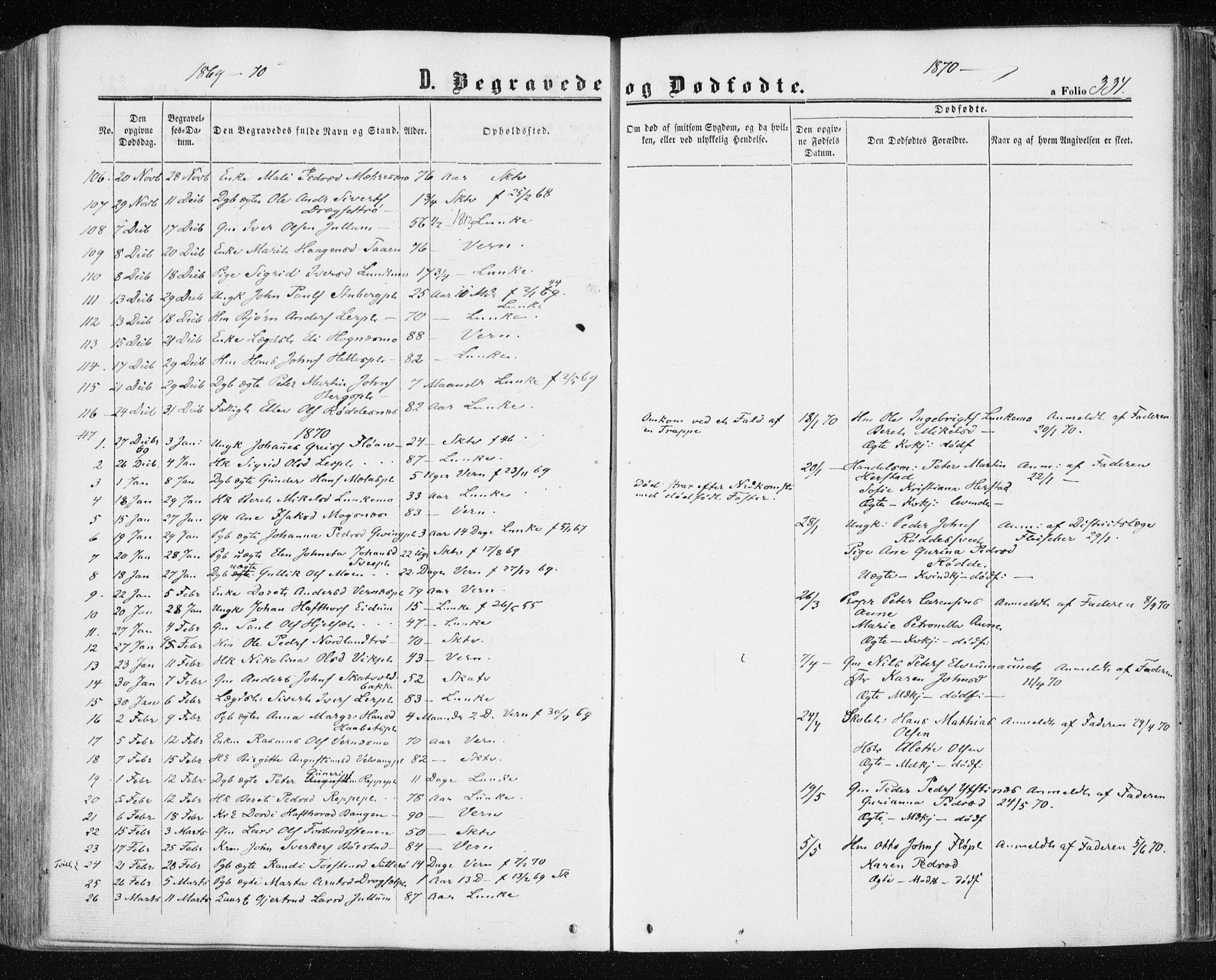 SAT, Ministerialprotokoller, klokkerbøker og fødselsregistre - Nord-Trøndelag, 709/L0075: Ministerialbok nr. 709A15, 1859-1870, s. 334
