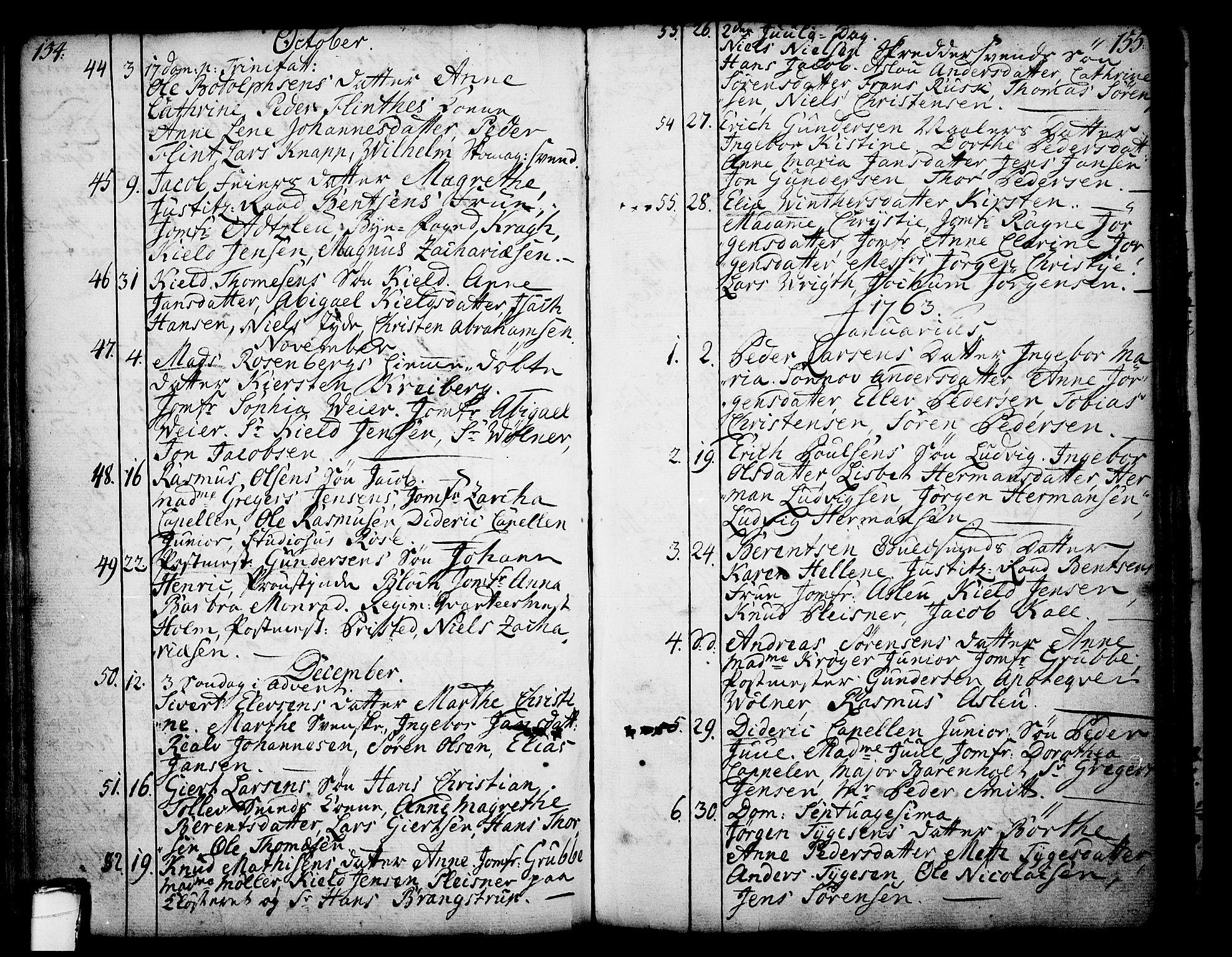 SAKO, Skien kirkebøker, F/Fa/L0003: Ministerialbok nr. 3, 1755-1791, s. 154-155