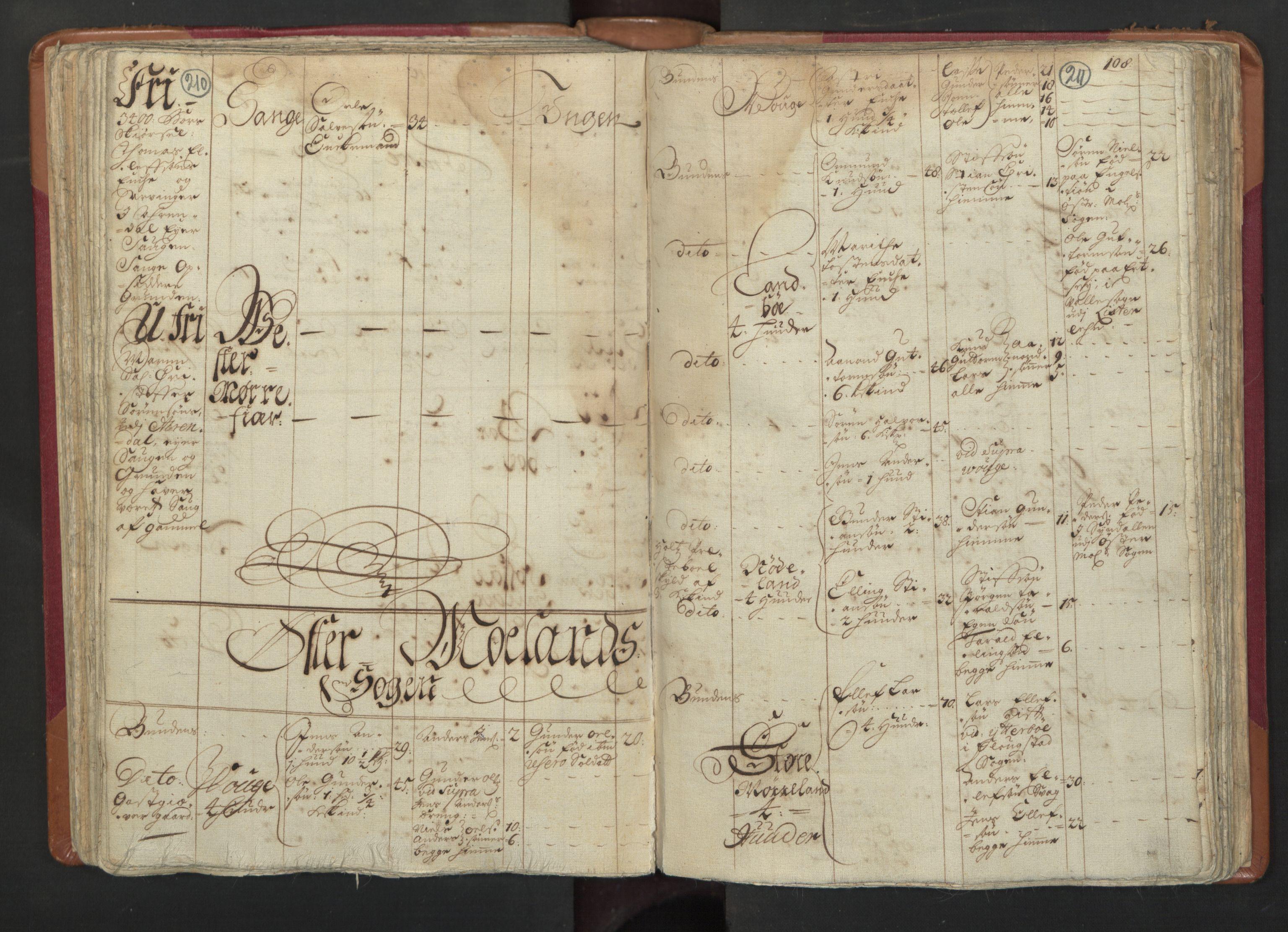 RA, Manntallet 1701, nr. 3: Nedenes fogderi, 1701, s. 210-211