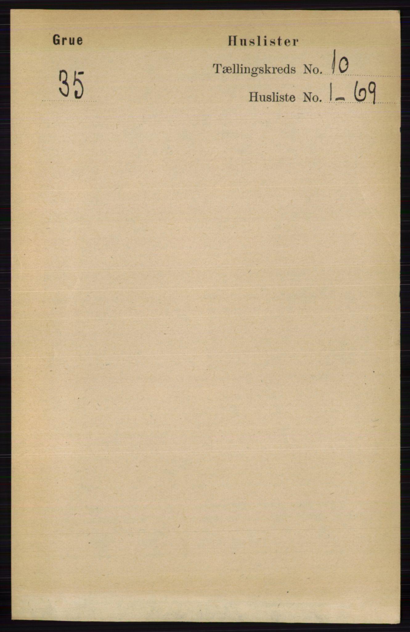 RA, Folketelling 1891 for 0423 Grue herred, 1891, s. 5291
