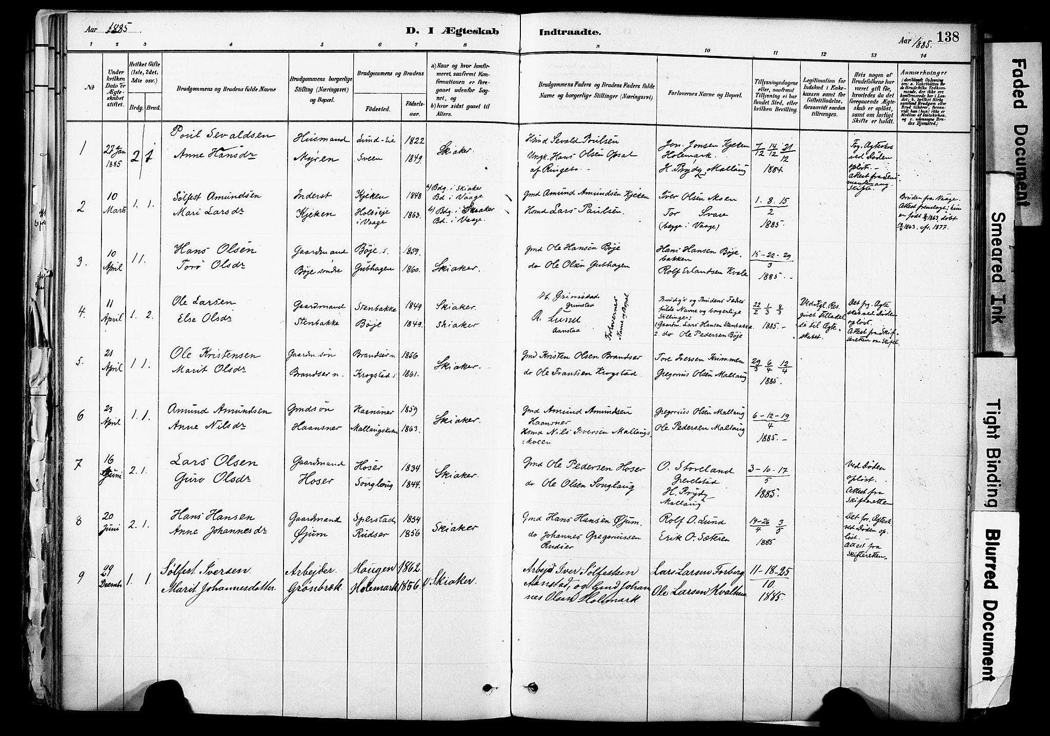 SAH, Skjåk prestekontor, Ministerialbok nr. 3, 1880-1907, s. 138