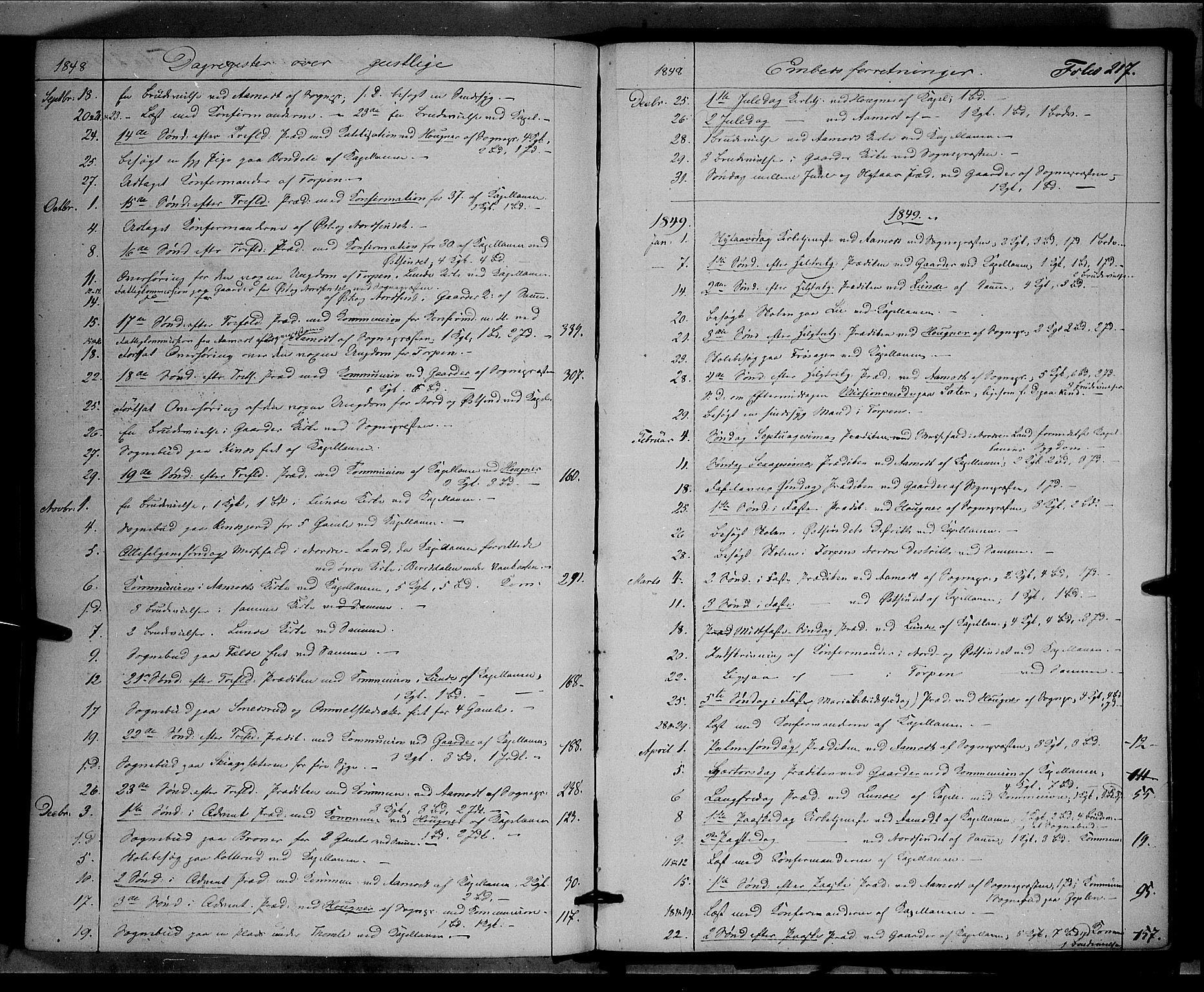 SAH, Land prestekontor, Ministerialbok nr. 10, 1847-1859, s. 217