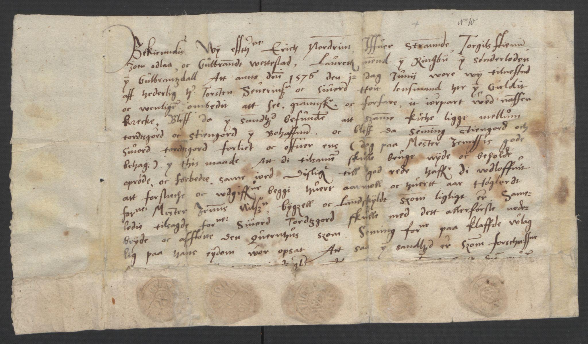SAO, Oslo stiftsdireksjon, G/Gb/L0001: Bispestolens dokumenter, 1584-1612, s. 10