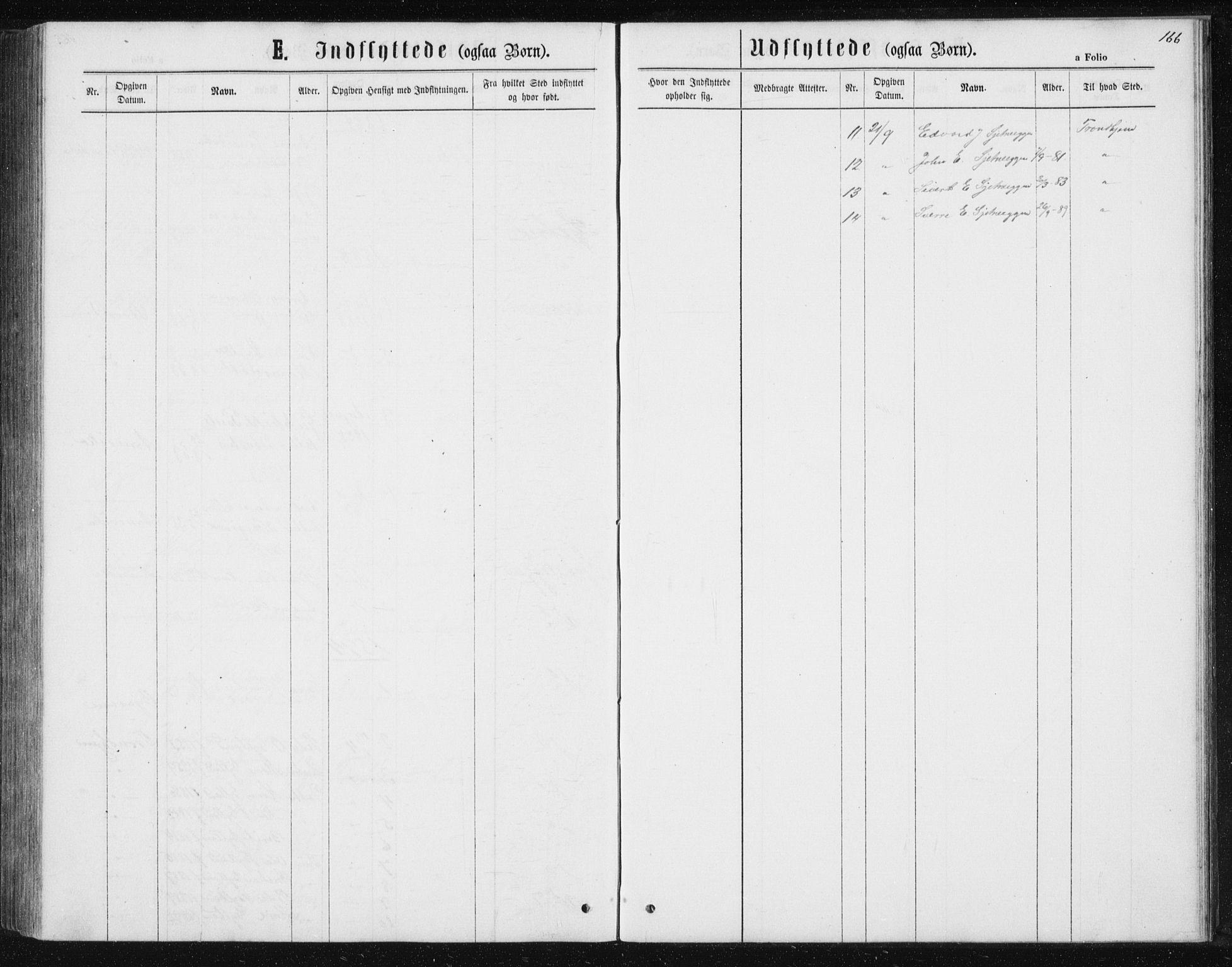 SAT, Ministerialprotokoller, klokkerbøker og fødselsregistre - Sør-Trøndelag, 621/L0459: Klokkerbok nr. 621C02, 1866-1895, s. 166