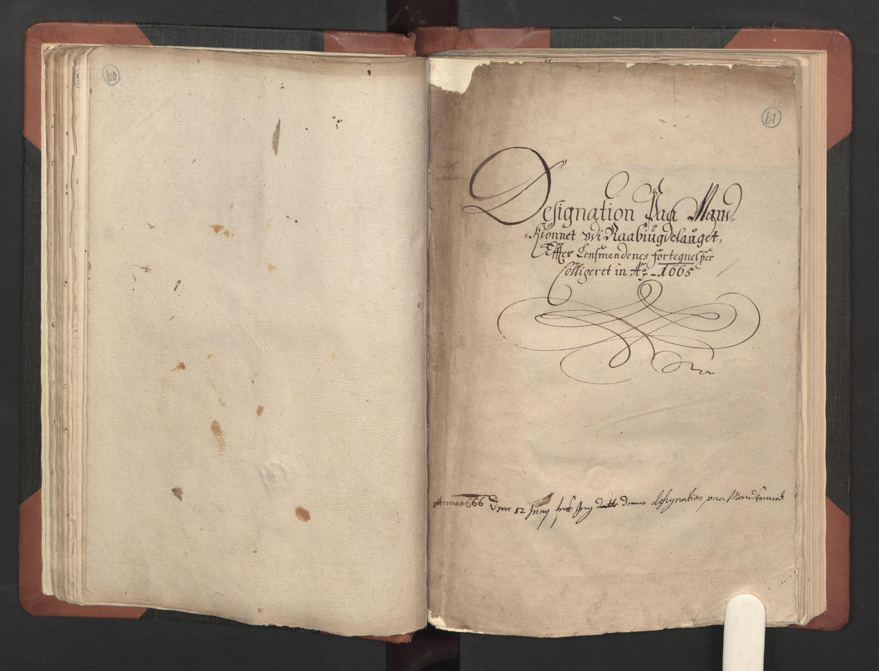 RA, Fogdenes og sorenskrivernes manntall 1664-1666, nr. 8: Råbyggelaget fogderi, 1664-1665, s. 60-61