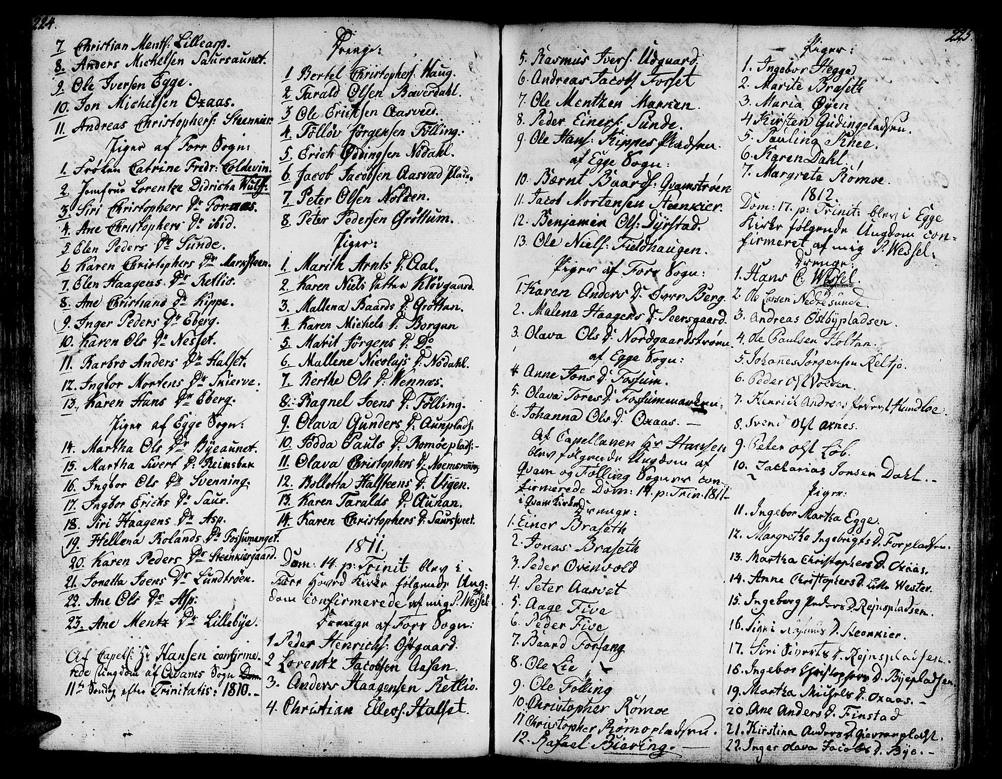 SAT, Ministerialprotokoller, klokkerbøker og fødselsregistre - Nord-Trøndelag, 746/L0440: Ministerialbok nr. 746A02, 1760-1815, s. 224-225