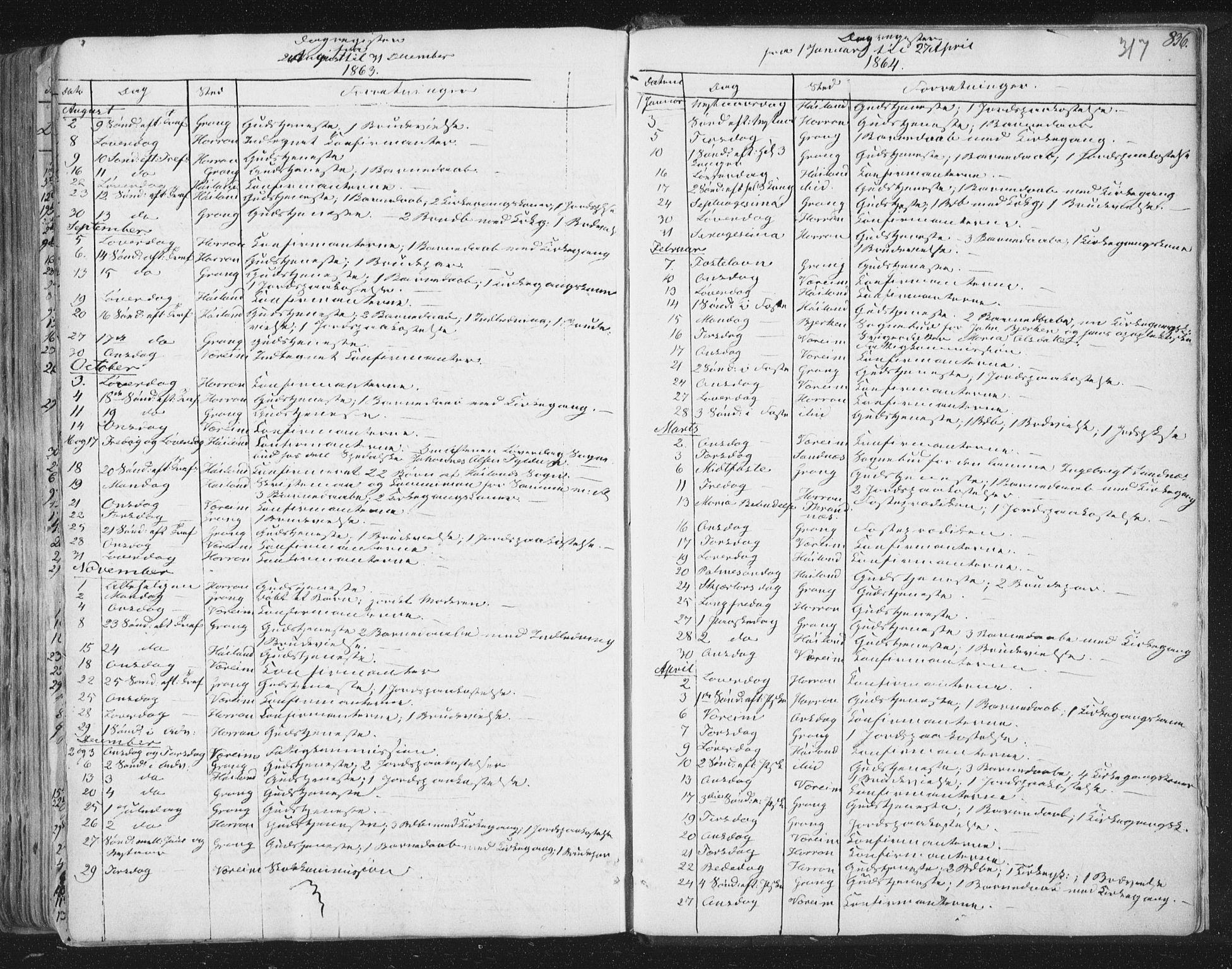 SAT, Ministerialprotokoller, klokkerbøker og fødselsregistre - Nord-Trøndelag, 758/L0513: Ministerialbok nr. 758A02 /1, 1839-1868, s. 317