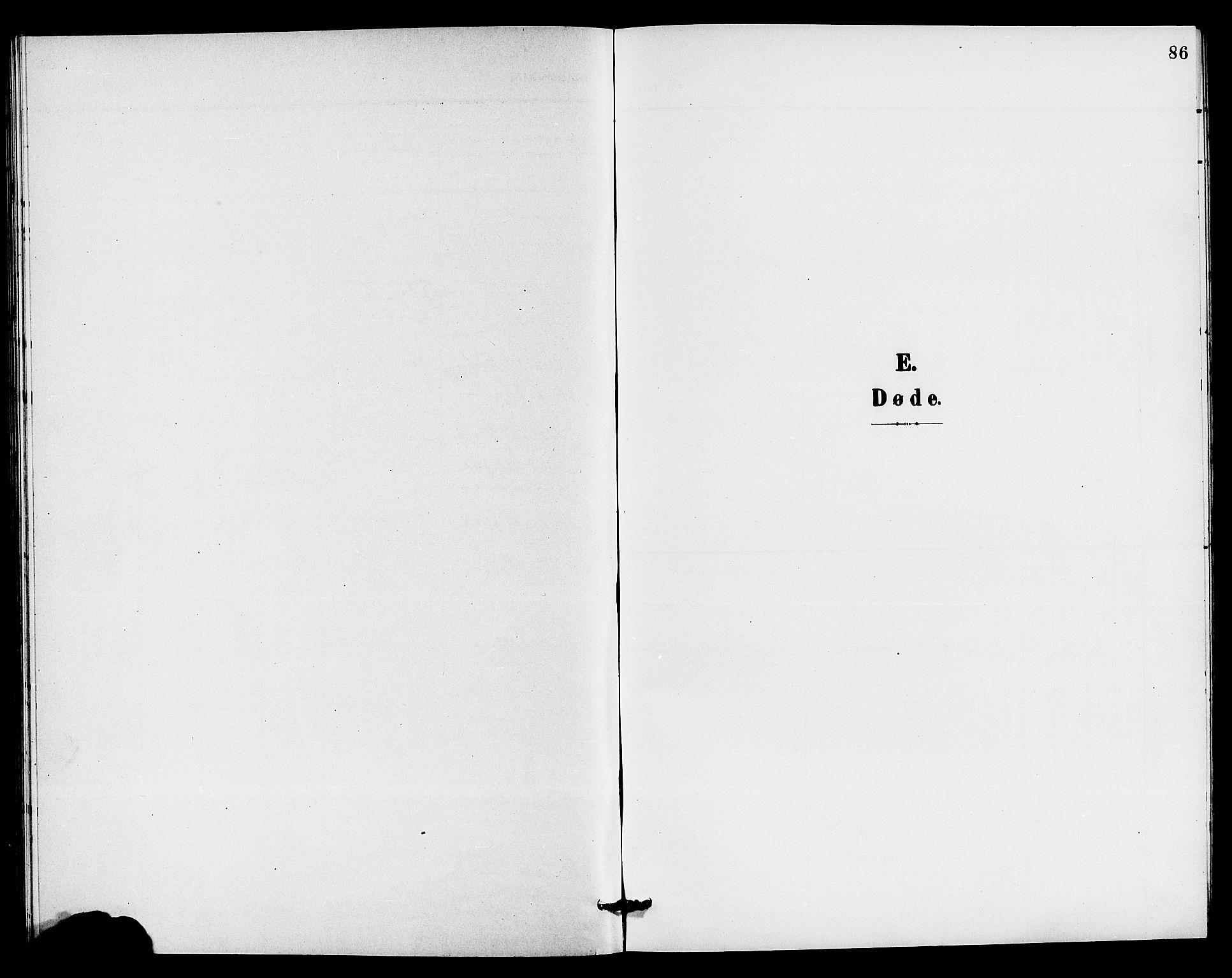 SAKO, Holla kirkebøker, G/Gb/L0002: Klokkerbok nr. II 2, 1897-1913, s. 86