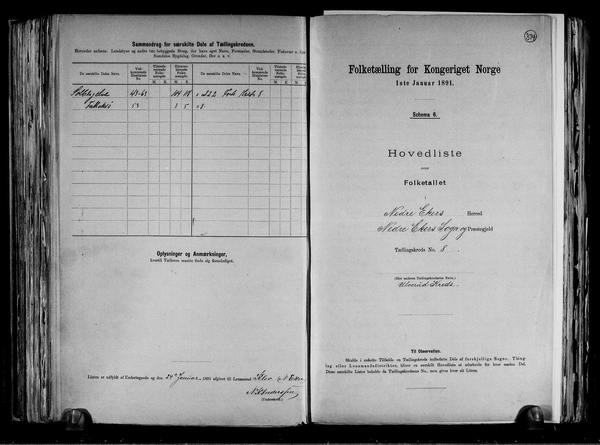 RA, Folketelling 1891 for 0625 Nedre Eiker herred, 1891, s. 21