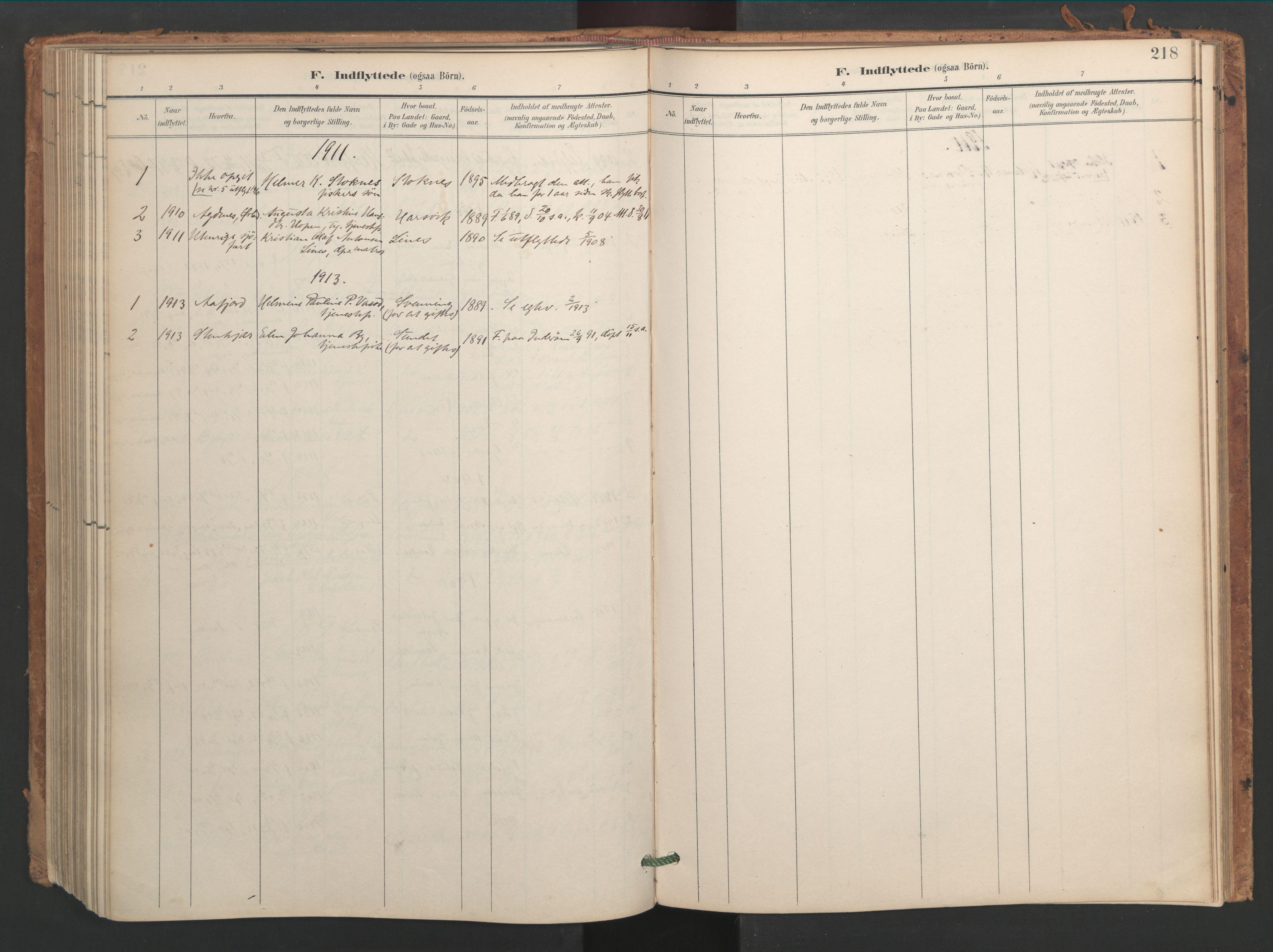SAT, Ministerialprotokoller, klokkerbøker og fødselsregistre - Sør-Trøndelag, 656/L0693: Ministerialbok nr. 656A02, 1894-1913, s. 218