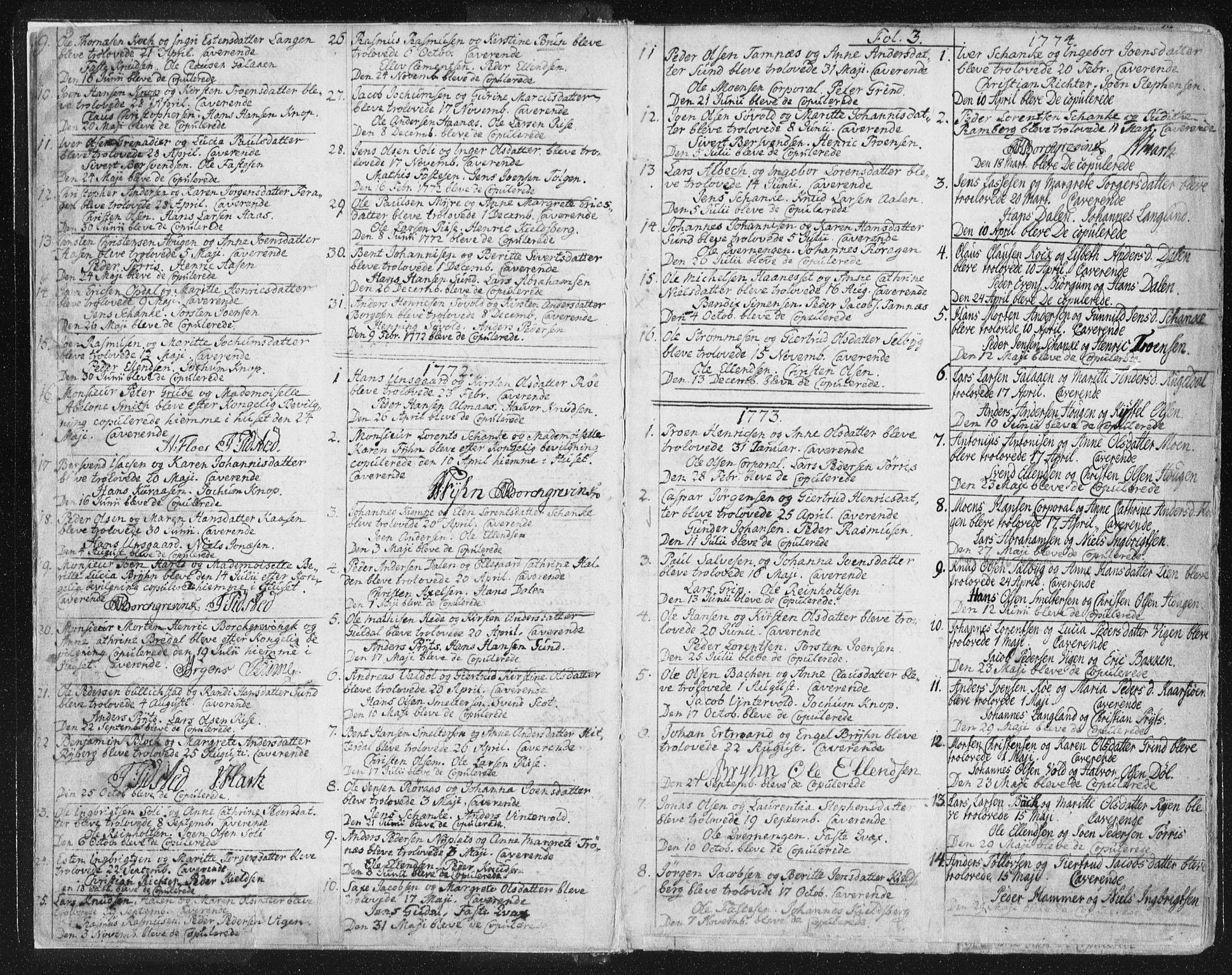 SAT, Ministerialprotokoller, klokkerbøker og fødselsregistre - Sør-Trøndelag, 681/L0926: Ministerialbok nr. 681A04, 1767-1797, s. 3