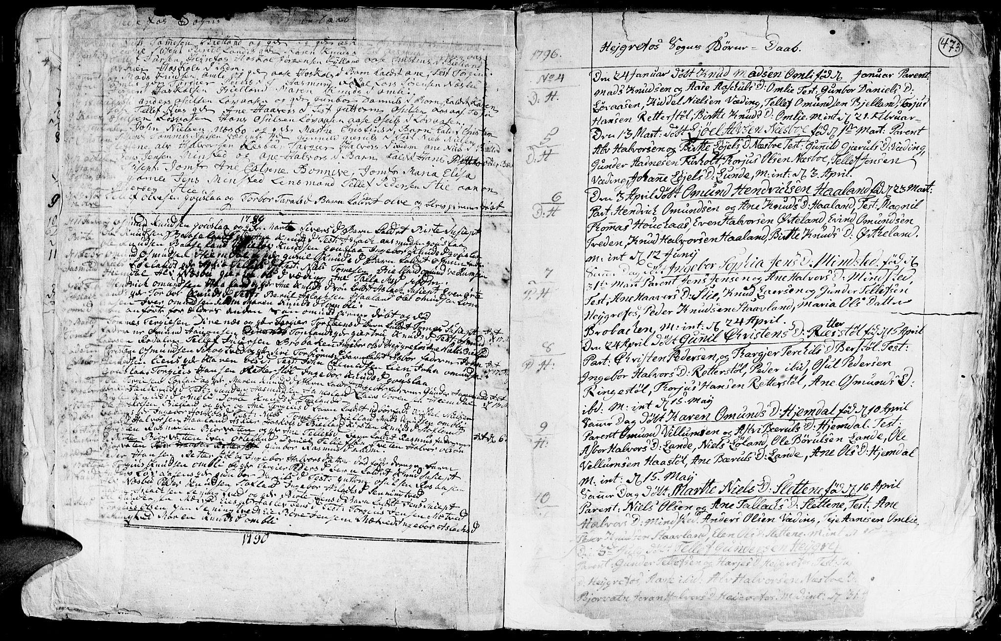 SAK, Hommedal sokneprestkontor, F/Fa/Fab/L0002: Ministerialbok nr. A 2 /3, 1740-1821, s. 473