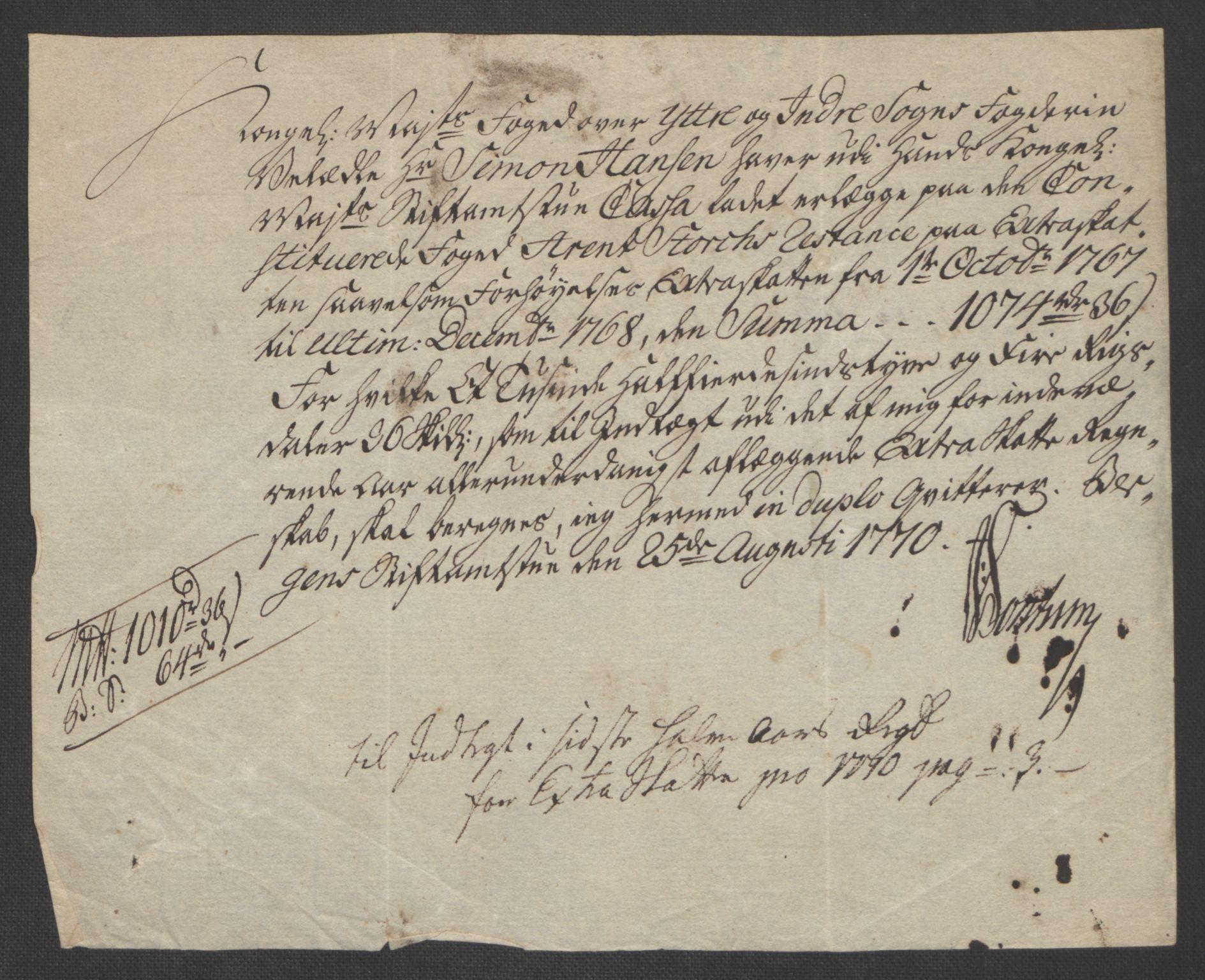RA, Rentekammeret inntil 1814, Realistisk ordnet avdeling, Ol/L0018: [Gg 10]: Ekstraskatten, 23.09.1762. Sogn, 1762-1772, s. 286