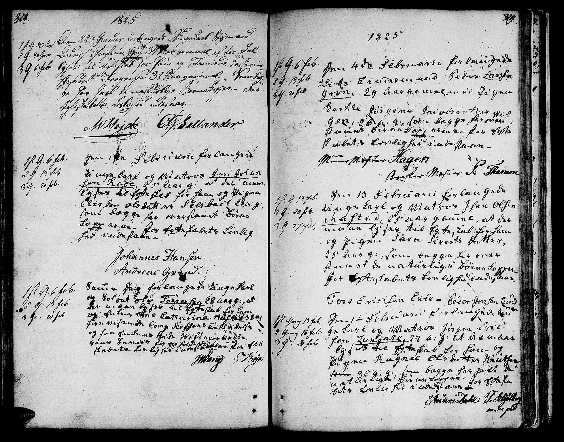 SAT, Ministerialprotokoller, klokkerbøker og fødselsregistre - Sør-Trøndelag, 601/L0042: Ministerialbok nr. 601A10, 1802-1830, s. 328-329