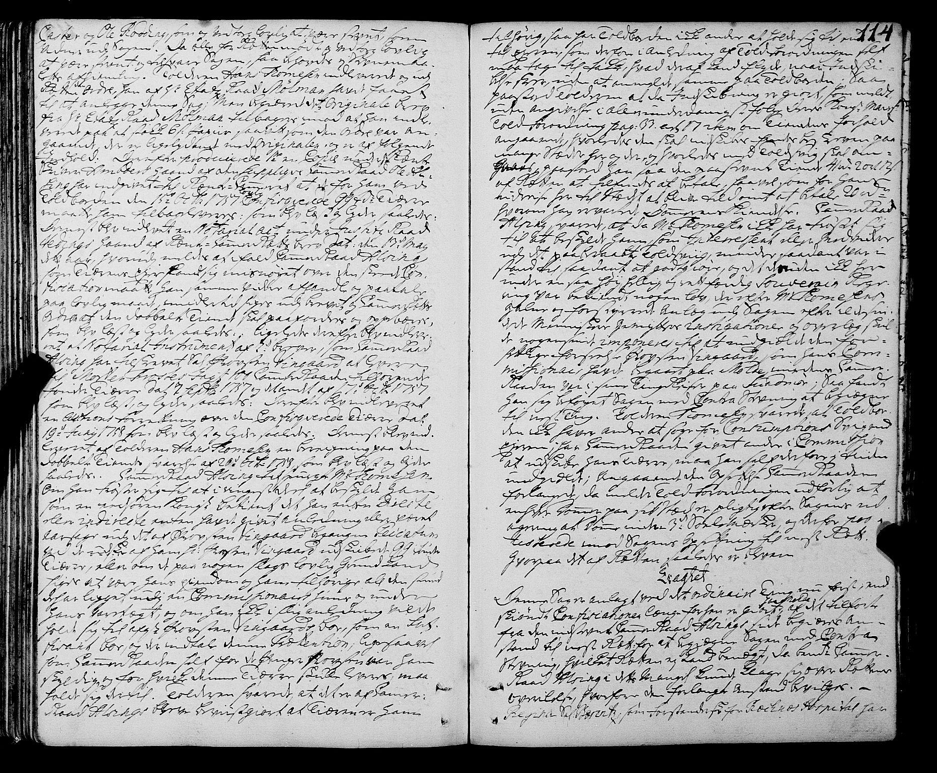 SAT, Sunnmøre sorenskriveri, 1/1A/L0036: Tingbok 33A, 1757-1760, s. 113b-114a