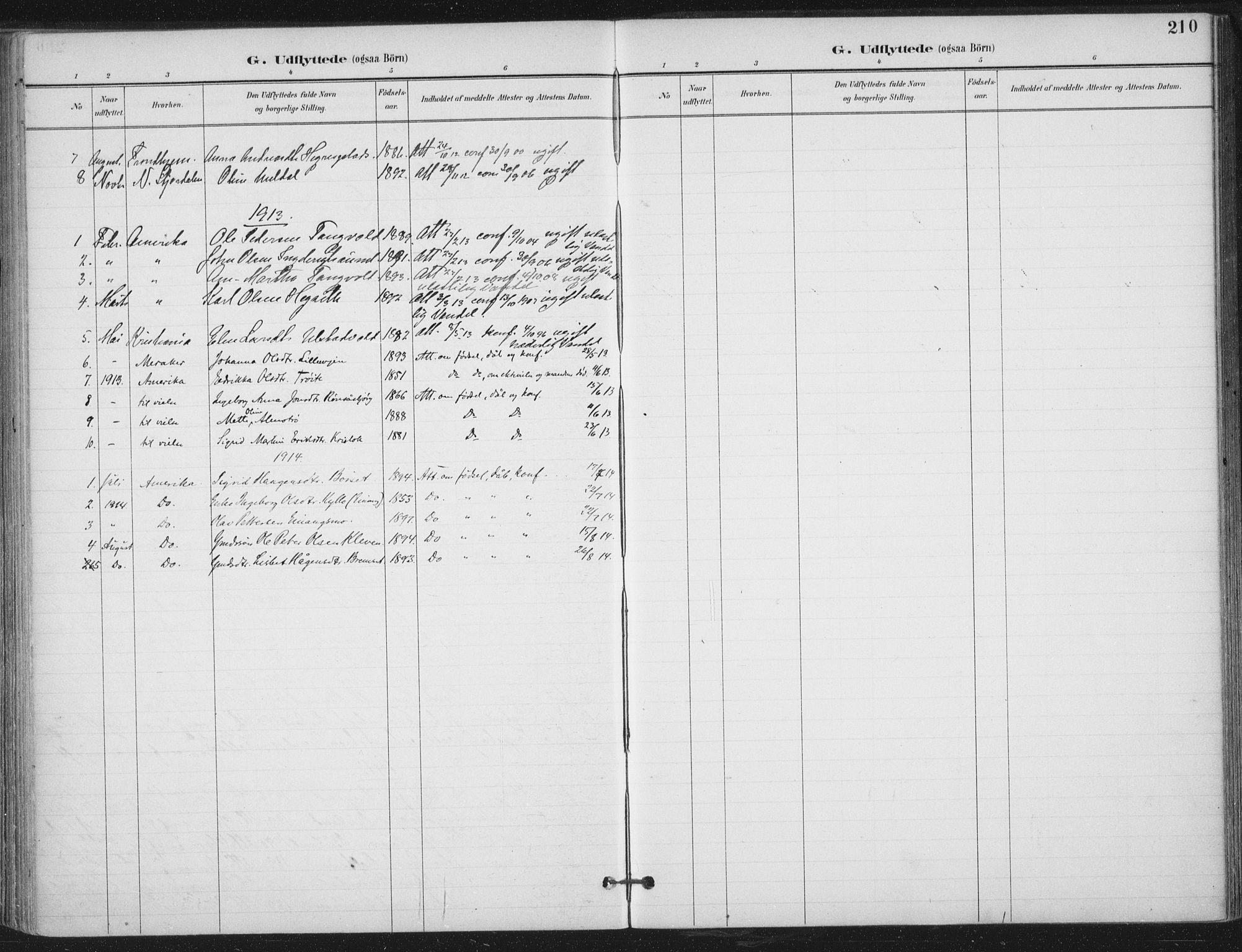 SAT, Ministerialprotokoller, klokkerbøker og fødselsregistre - Nord-Trøndelag, 703/L0031: Ministerialbok nr. 703A04, 1893-1914, s. 210