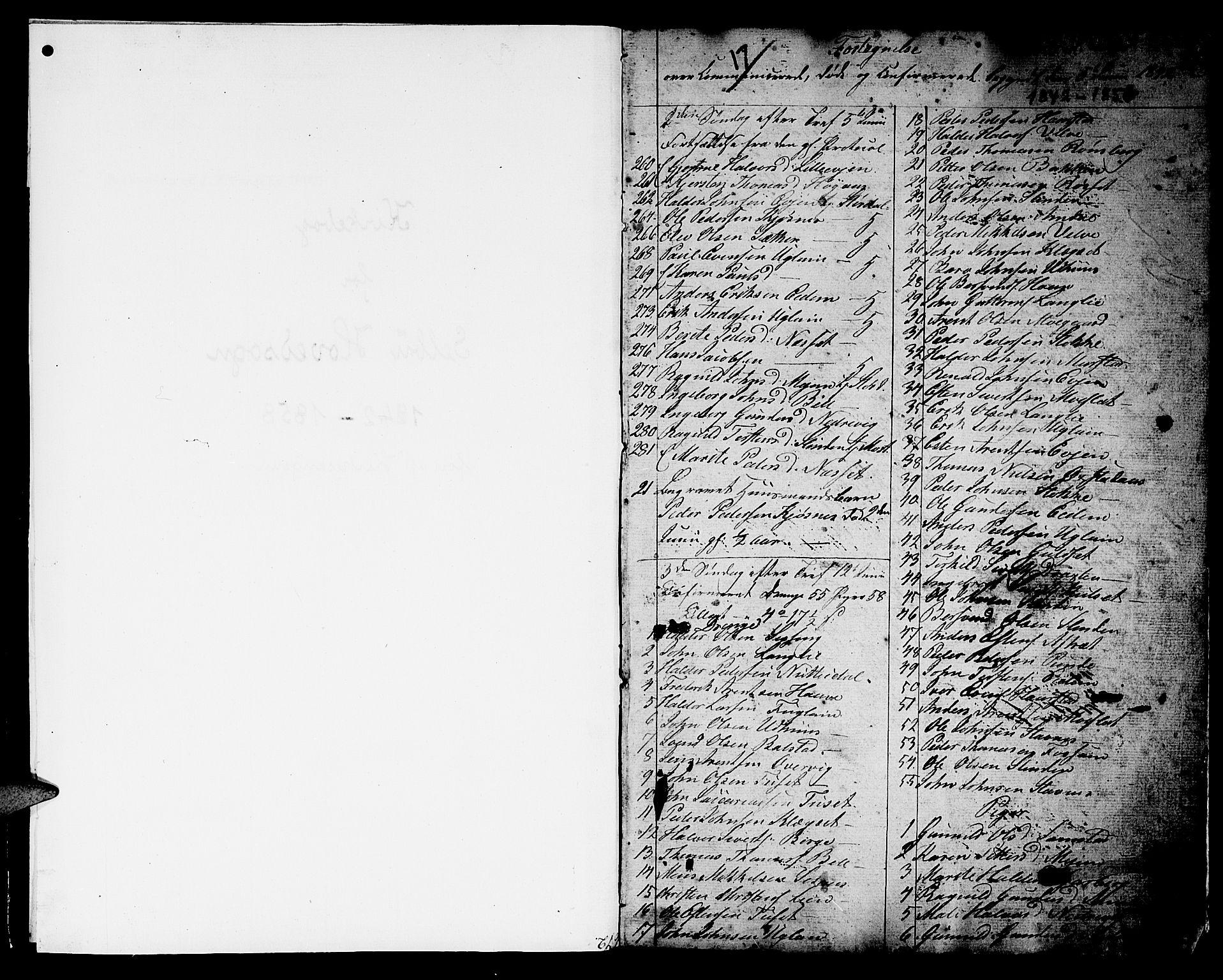 SAT, Ministerialprotokoller, klokkerbøker og fødselsregistre - Sør-Trøndelag, 695/L1154: Klokkerbok nr. 695C05, 1842-1858, s. 1