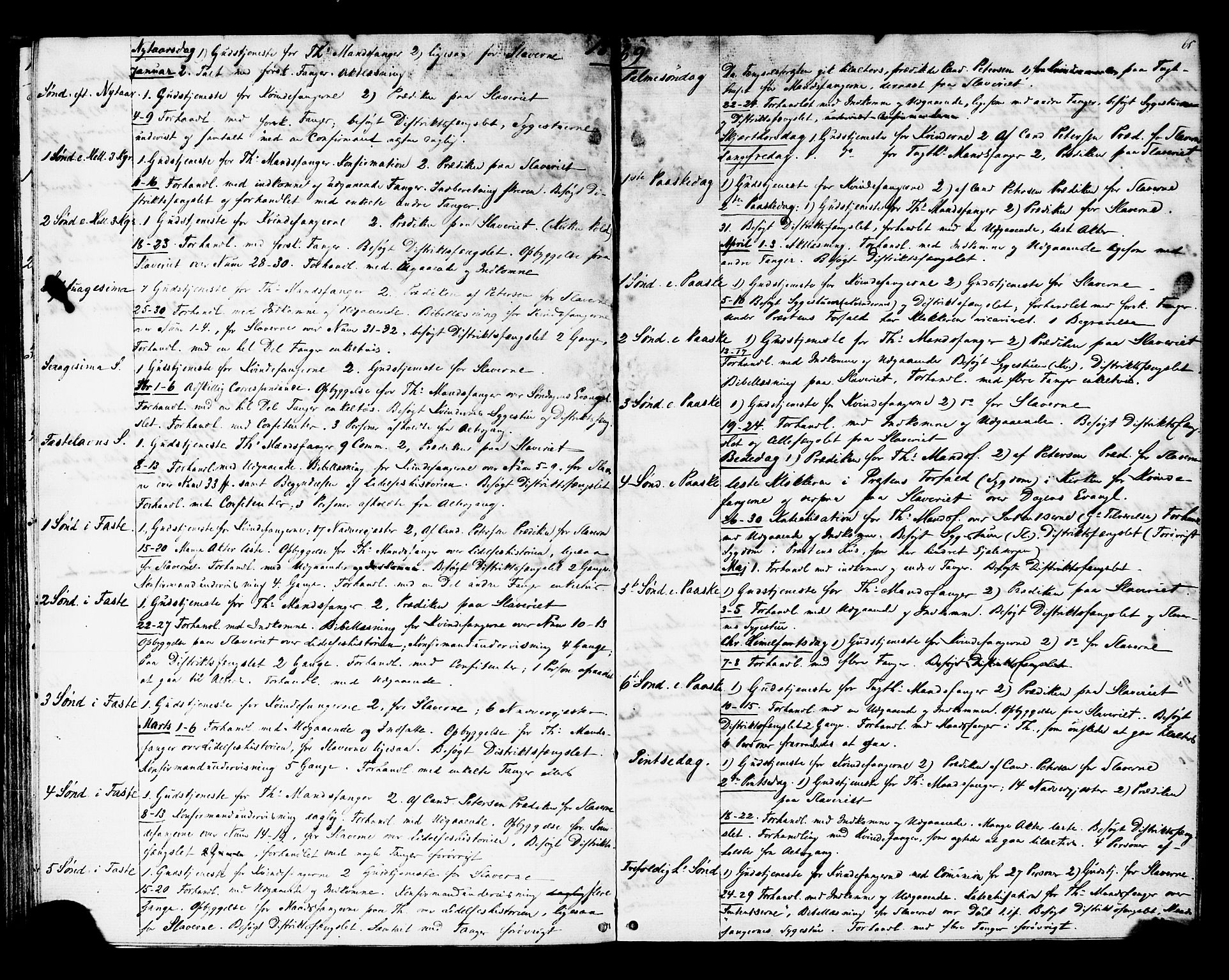 SAT, Ministerialprotokoller, klokkerbøker og fødselsregistre - Sør-Trøndelag, 624/L0481: Ministerialbok nr. 624A02, 1841-1869, s. 65