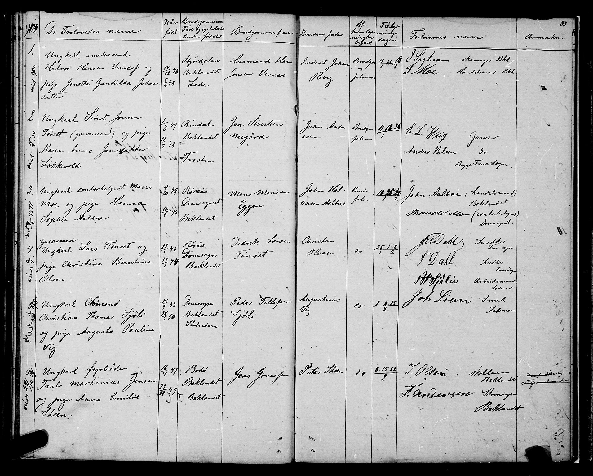 SAT, Ministerialprotokoller, klokkerbøker og fødselsregistre - Sør-Trøndelag, 604/L0187: Ministerialbok nr. 604A08, 1847-1878, s. 83