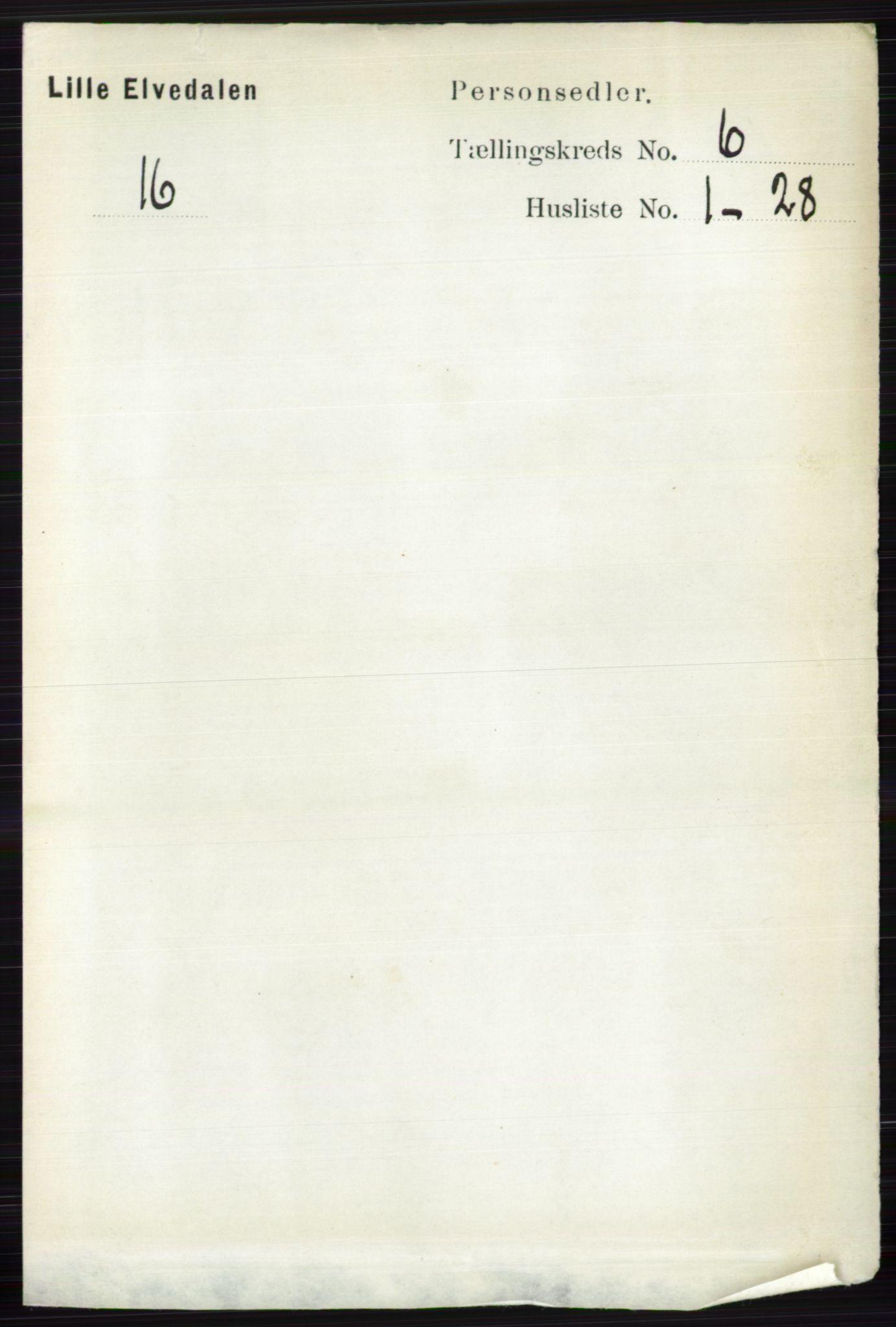 RA, Folketelling 1891 for 0438 Lille Elvedalen herred, 1891, s. 1829