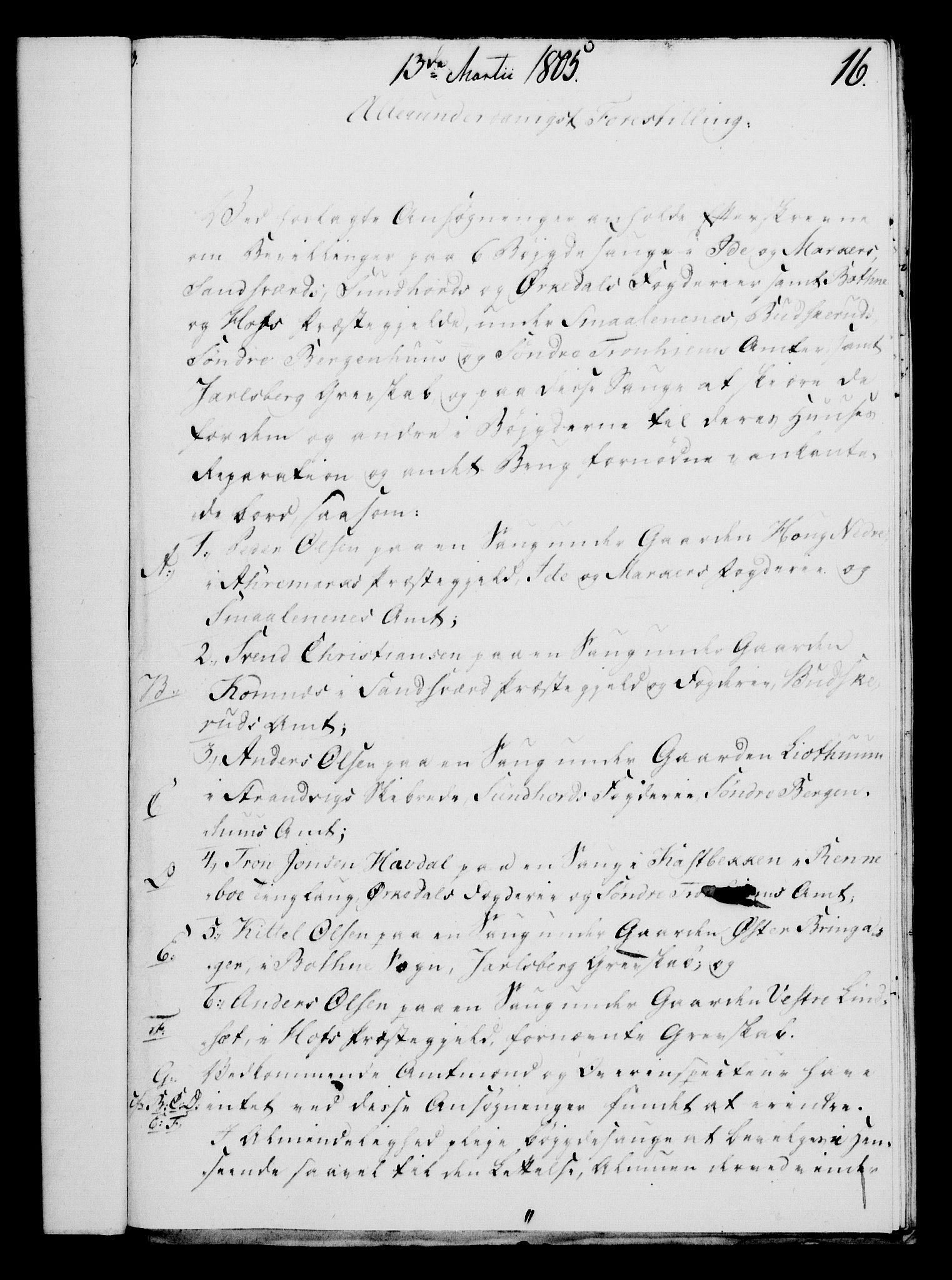 RA, Rentekammeret, Kammerkanselliet, G/Gf/Gfa/L0087: Norsk relasjons- og resolusjonsprotokoll (merket RK 52.87), 1805, s. 99