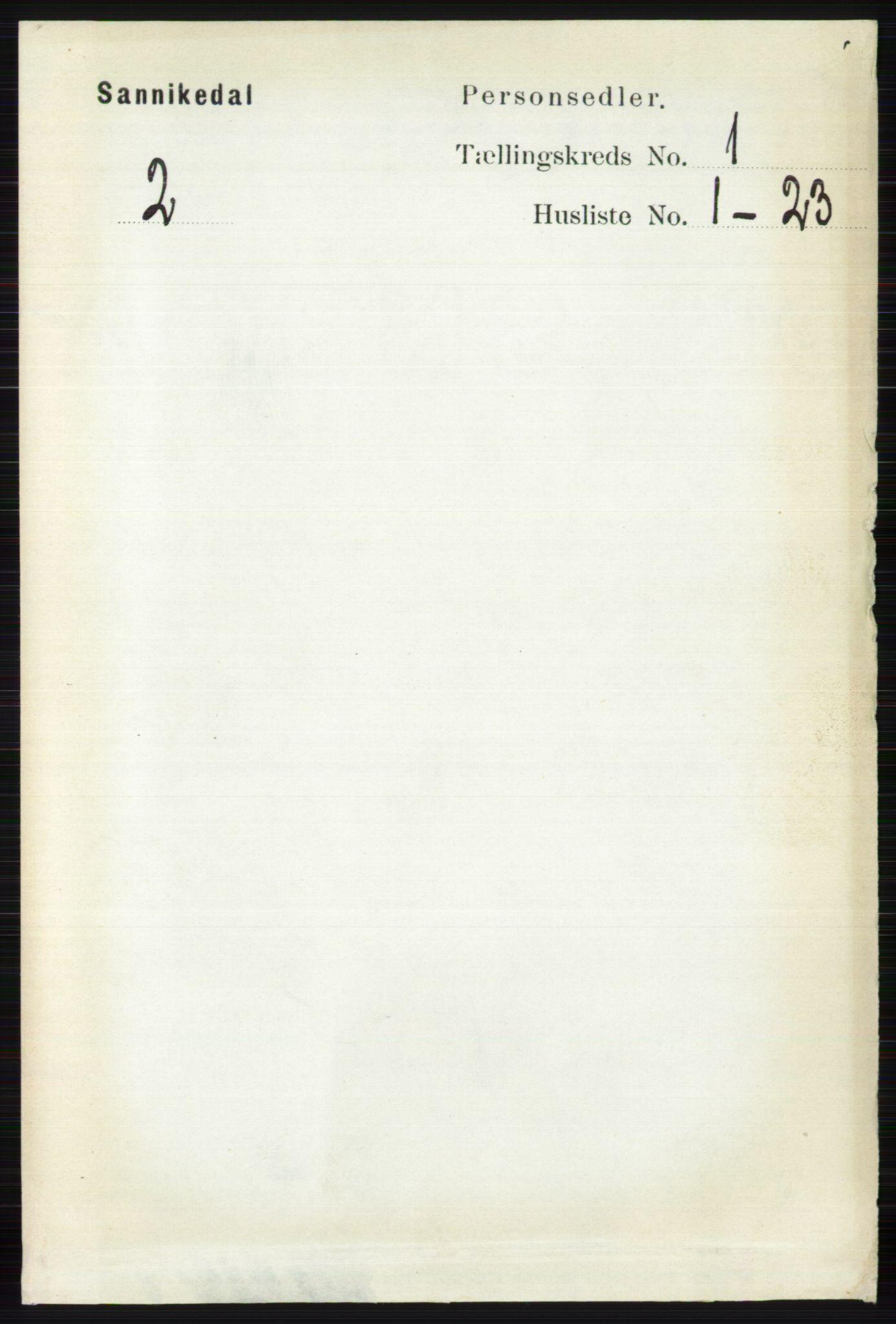RA, Folketelling 1891 for 0816 Sannidal herred, 1891, s. 73