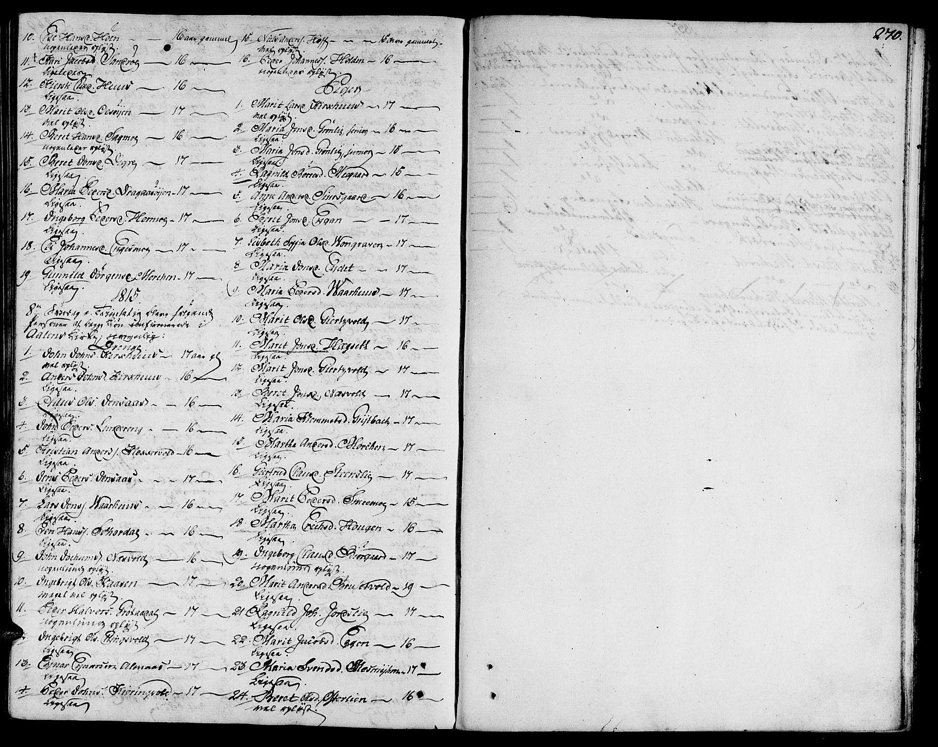 SAT, Ministerialprotokoller, klokkerbøker og fødselsregistre - Sør-Trøndelag, 685/L0953: Ministerialbok nr. 685A02, 1805-1816, s. 270