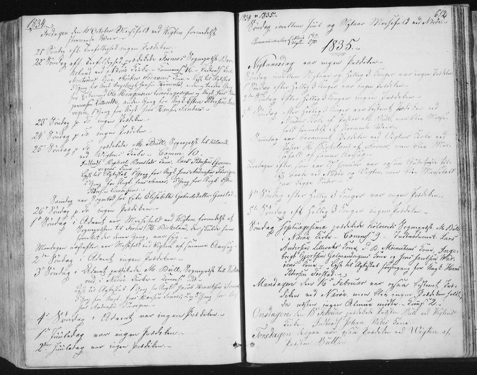 SAT, Ministerialprotokoller, klokkerbøker og fødselsregistre - Nord-Trøndelag, 784/L0669: Ministerialbok nr. 784A04, 1829-1859, s. 612