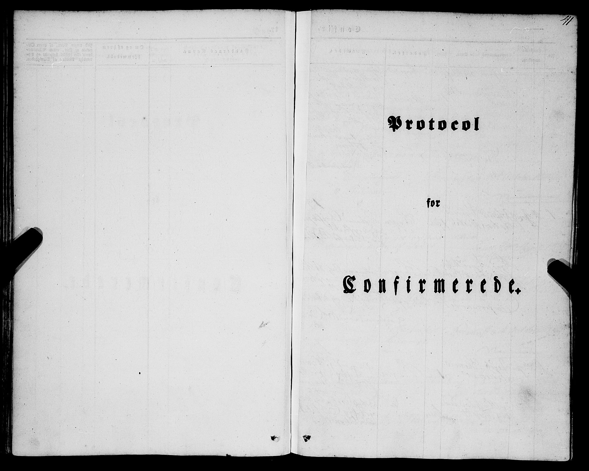 SAB, Mariakirken Sokneprestembete, H/Haa/L0006: Ministerialbok nr. A 6, 1846-1877, s. 41
