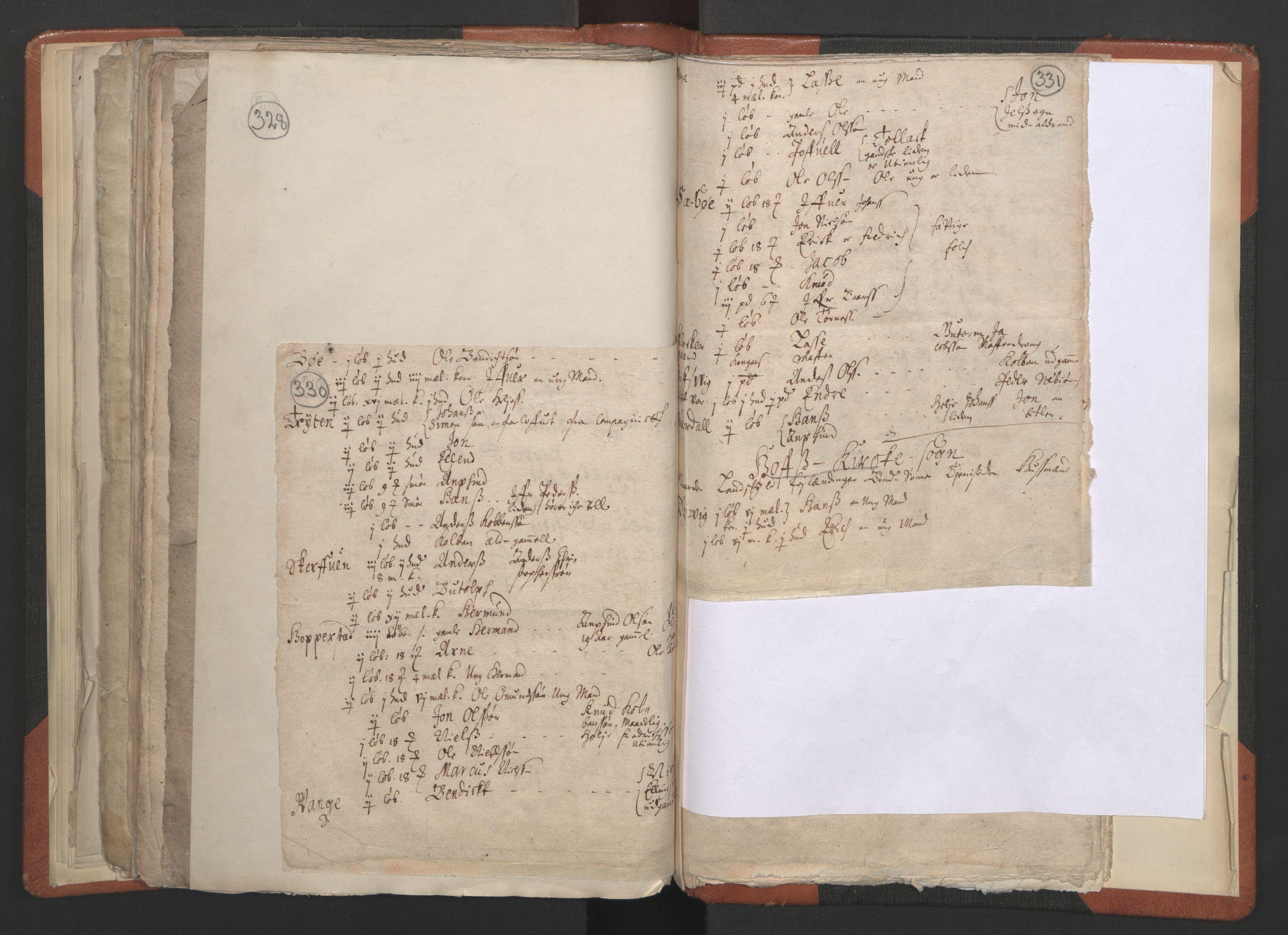RA, Sogneprestenes manntall 1664-1666, nr. 23: Sogn prosti, 1664-1666, s. 330-331