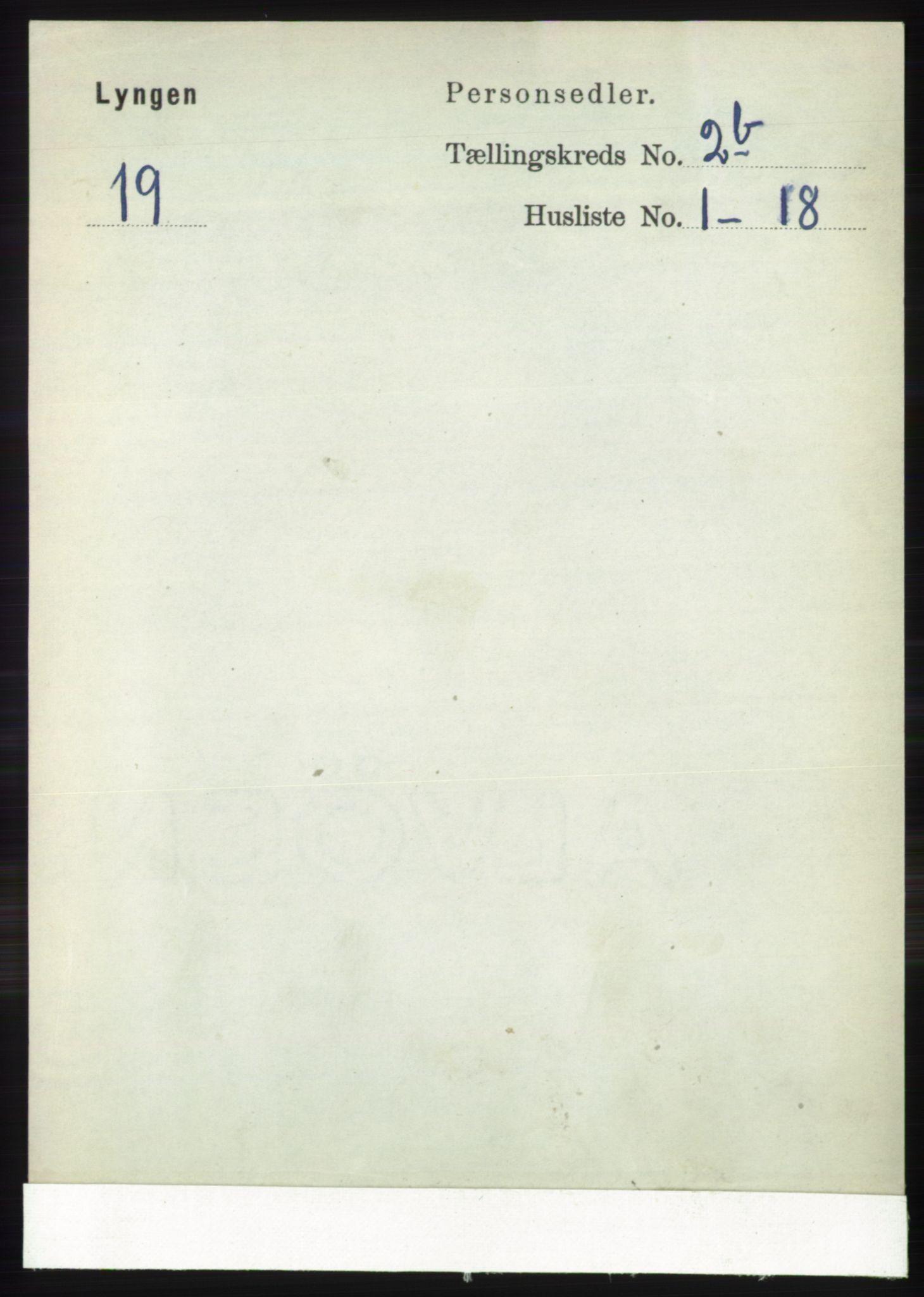 RA, Folketelling 1891 for 1938 Lyngen herred, 1891, s. 2469