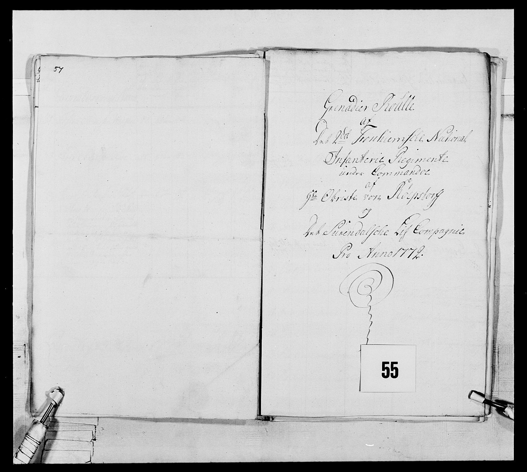 RA, Generalitets- og kommissariatskollegiet, Det kongelige norske kommissariatskollegium, E/Eh/L0076: 2. Trondheimske nasjonale infanteriregiment, 1766-1773, s. 188