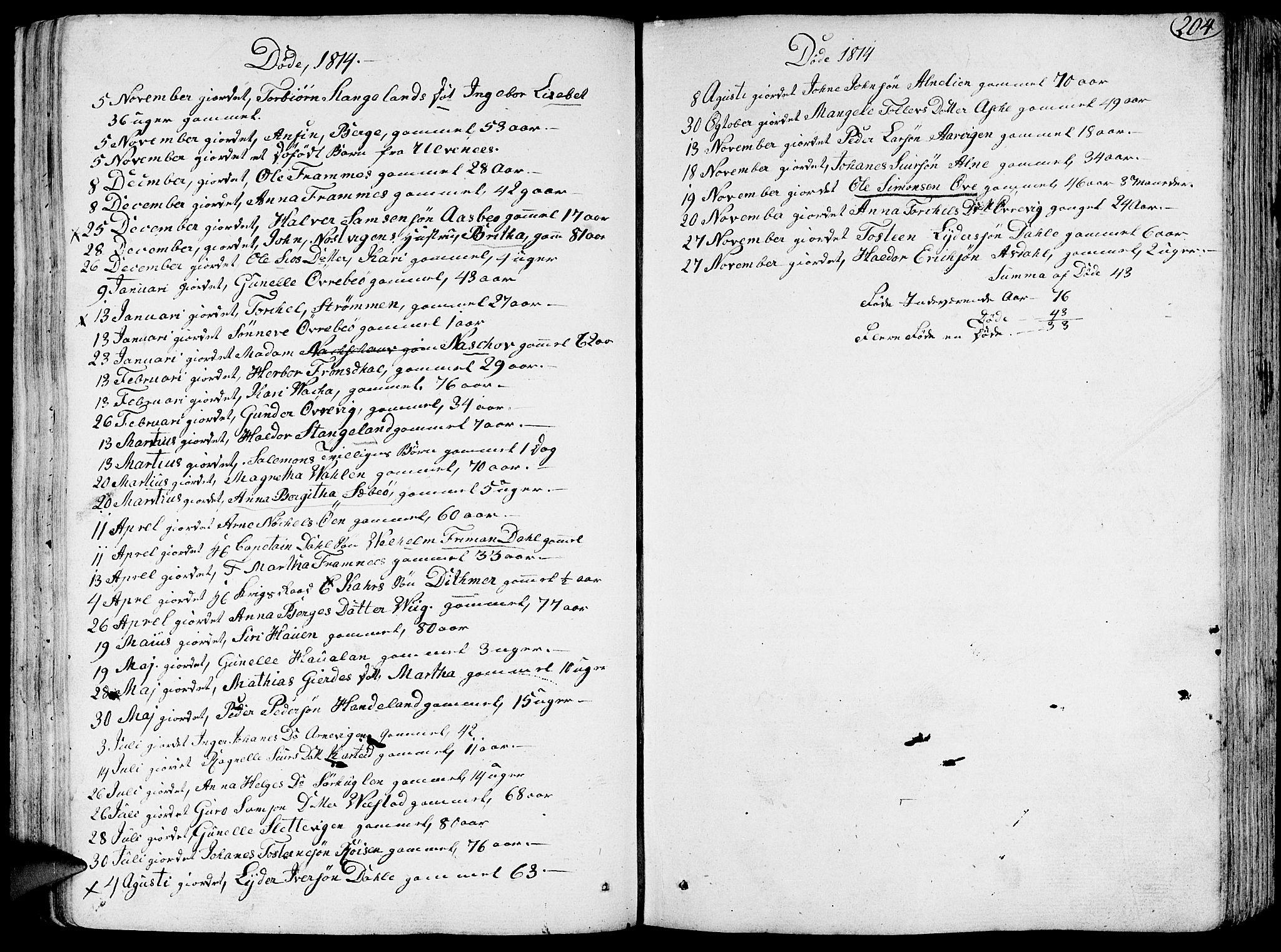 SAB, Fjelberg Sokneprestembete, H/Haa: Ministerialbok nr. A 3, 1788-1815, s. 204