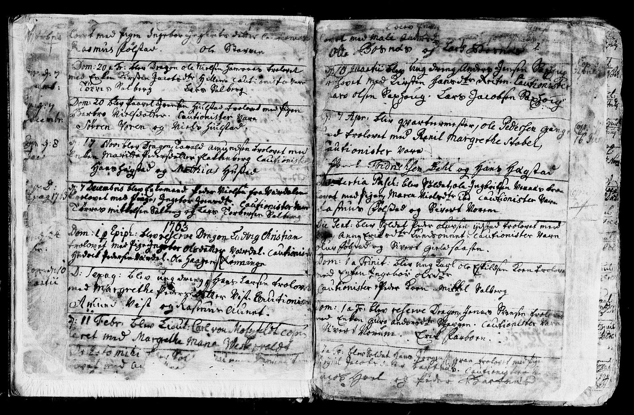SAT, Ministerialprotokoller, klokkerbøker og fødselsregistre - Nord-Trøndelag, 730/L0273: Ministerialbok nr. 730A02, 1762-1802, s. 2