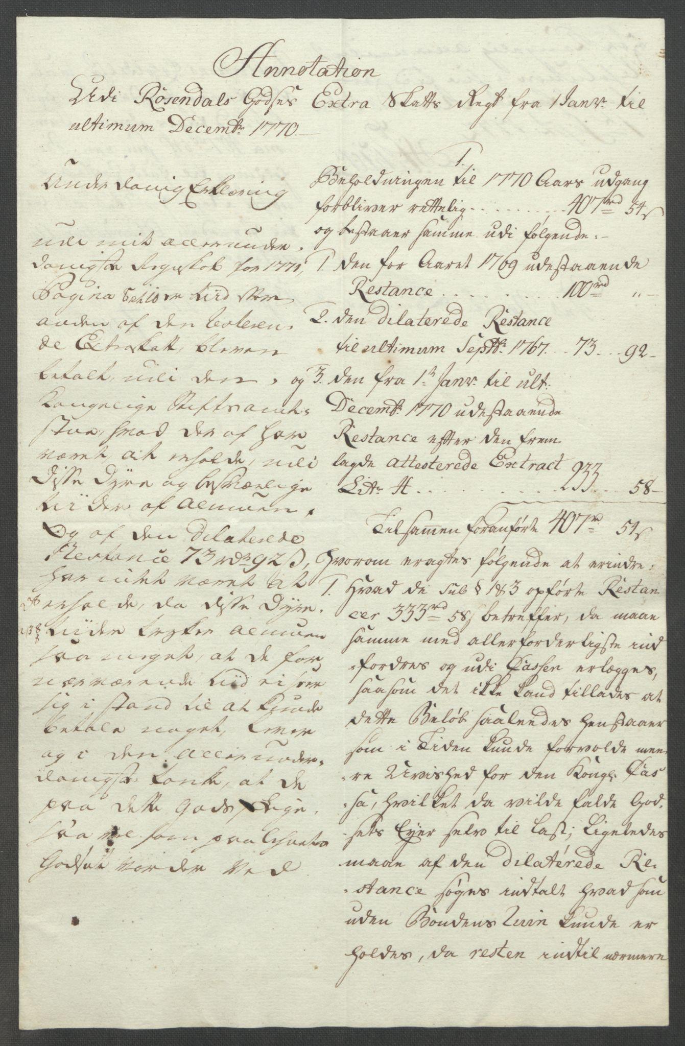 RA, Rentekammeret inntil 1814, Reviderte regnskaper, Fogderegnskap, R49/L3157: Ekstraskatten Rosendal Baroni, 1762-1772, s. 335