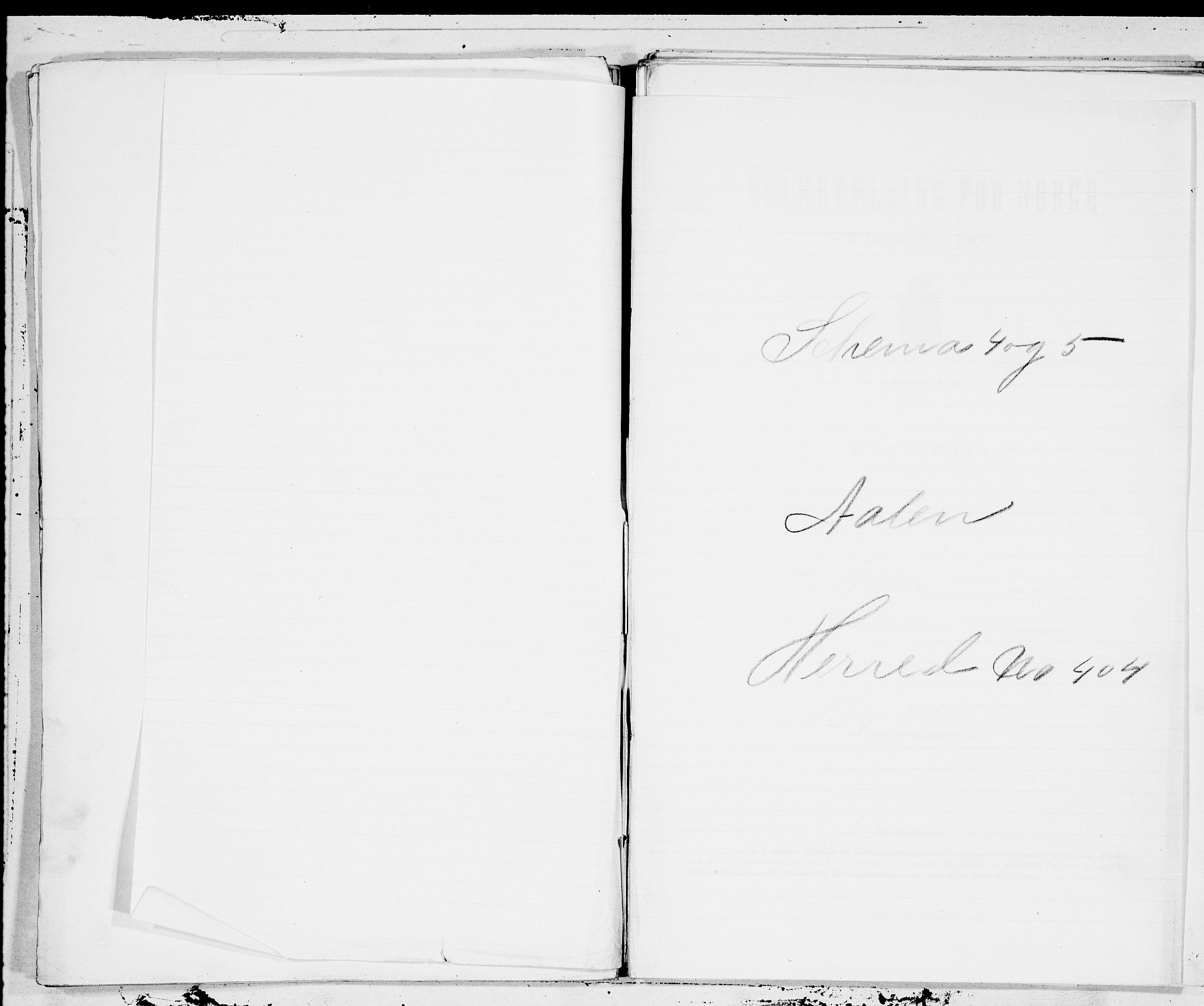 SAT, Folketelling 1900 for 1644 Ålen herred, 1900, s. 1