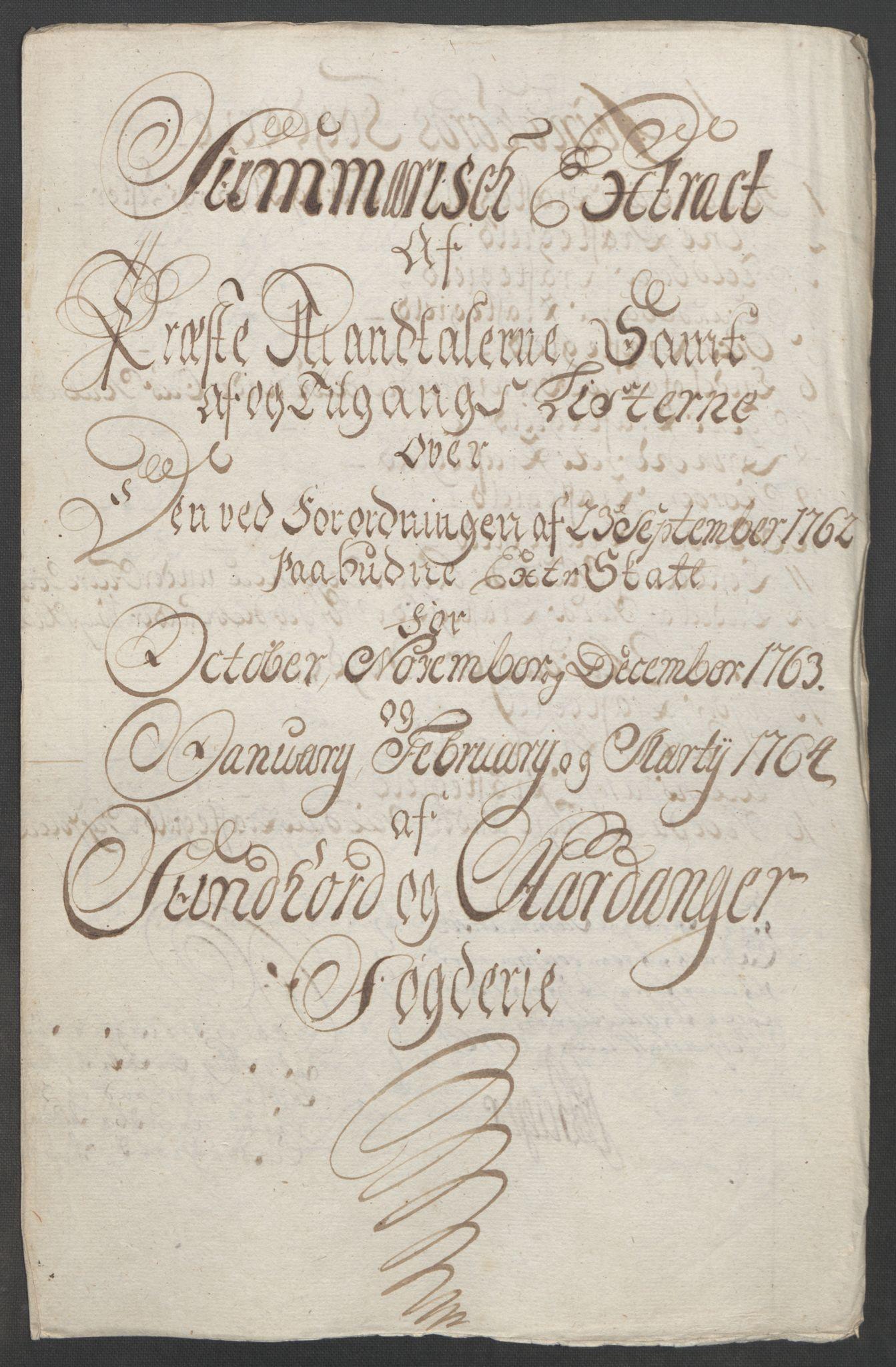 RA, Rentekammeret inntil 1814, Reviderte regnskaper, Fogderegnskap, R48/L3136: Ekstraskatten Sunnhordland og Hardanger, 1762-1772, s. 64
