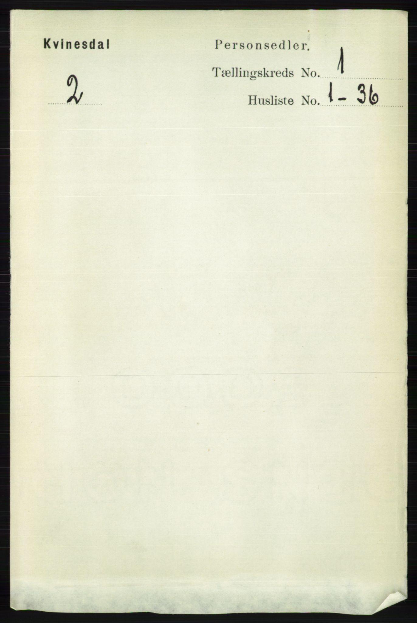 RA, Folketelling 1891 for 1037 Kvinesdal herred, 1891, s. 73