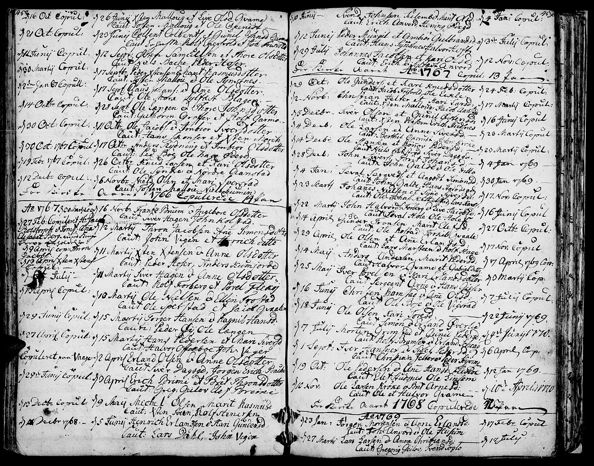 SAH, Lom prestekontor, K/L0002: Ministerialbok nr. 2, 1749-1801, s. 458-459