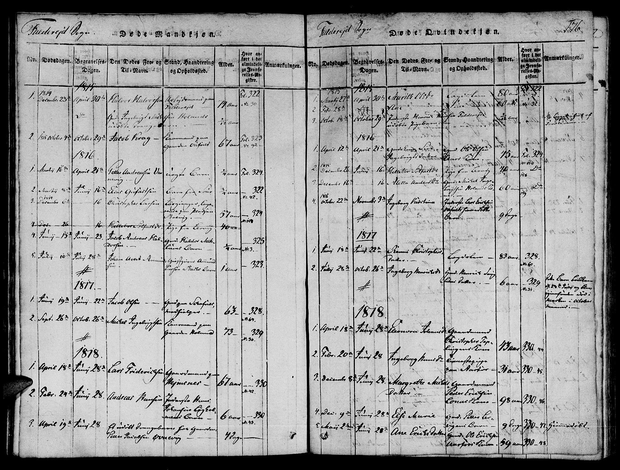 SAT, Ministerialprotokoller, klokkerbøker og fødselsregistre - Nord-Trøndelag, 780/L0636: Ministerialbok nr. 780A03 /3, 1815-1829, s. 176