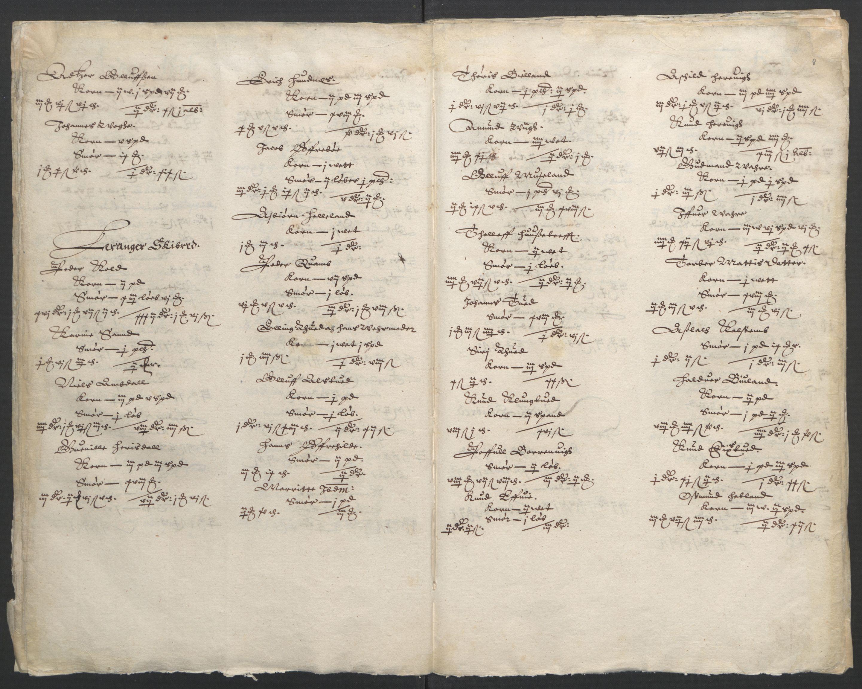 RA, Stattholderembetet 1572-1771, Ek/L0010: Jordebøker til utlikning av rosstjeneste 1624-1626:, 1624-1626, s. 73