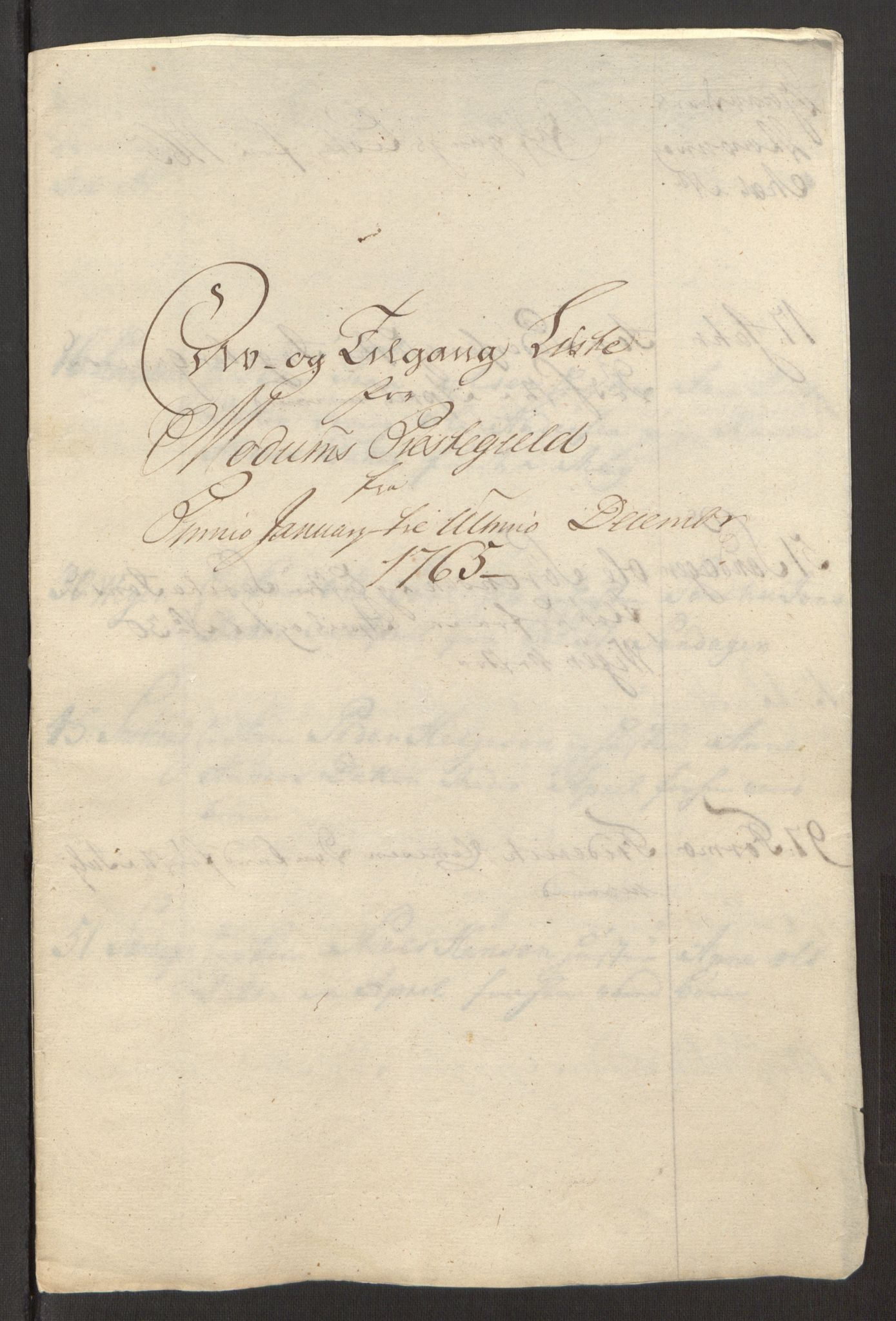 RA, Rentekammeret inntil 1814, Reviderte regnskaper, Fogderegnskap, R31/L1834: Ekstraskatten Hurum, Røyken, Eiker, Lier og Buskerud, 1765, s. 429