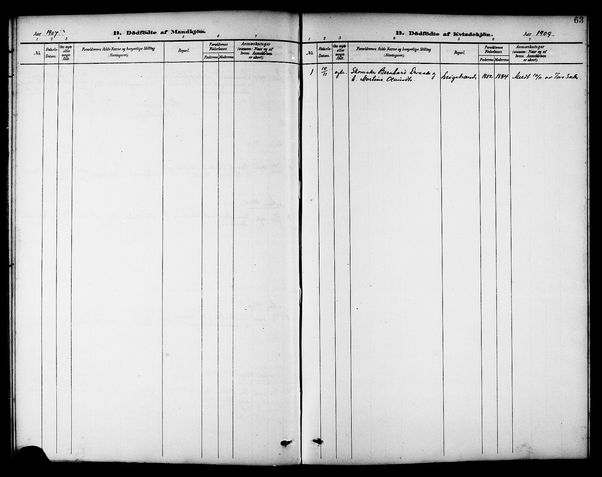 SAT, Ministerialprotokoller, klokkerbøker og fødselsregistre - Nord-Trøndelag, 742/L0412: Klokkerbok nr. 742C03, 1898-1910, s. 63