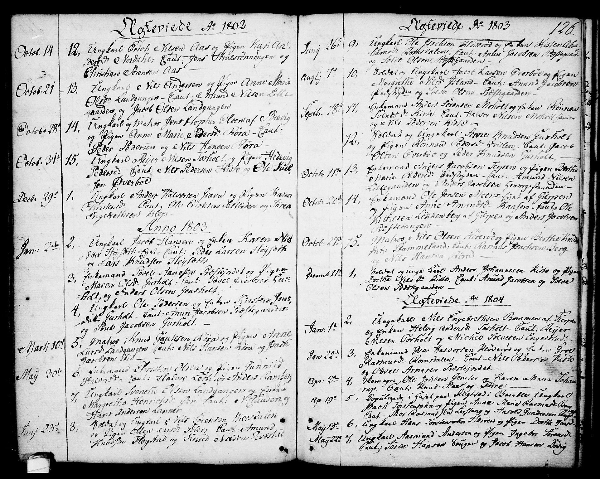 SAKO, Eidanger kirkebøker, F/Fa/L0006: Ministerialbok nr. 6, 1764-1814, s. 126