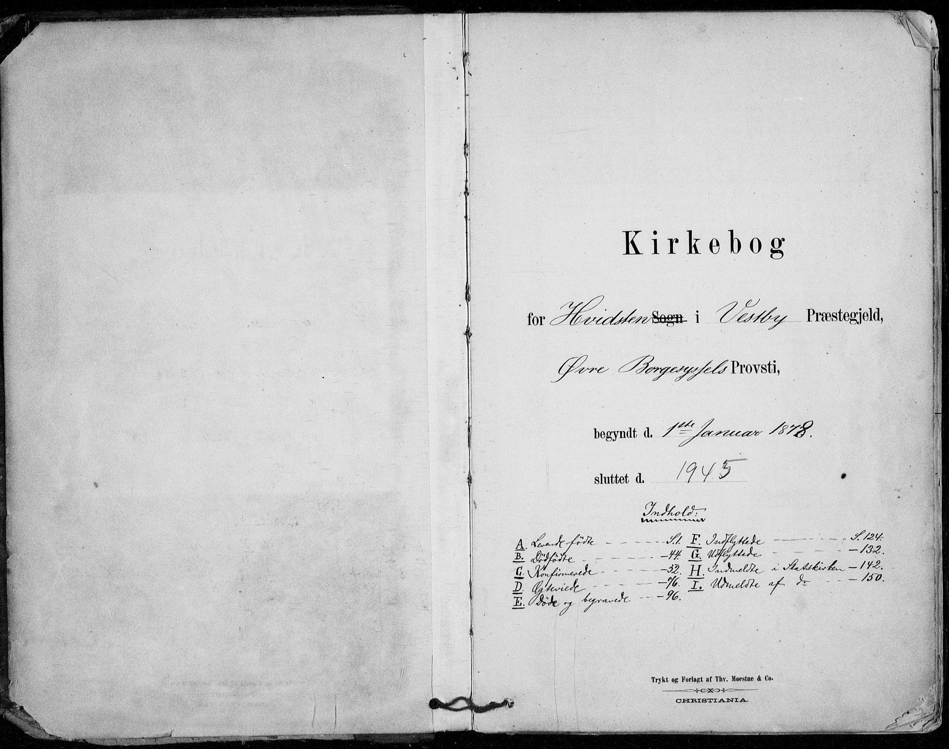 SAO, Vestby prestekontor Kirkebøker, F/Fd/L0001: Ministerialbok nr. IV 1, 1878-1945