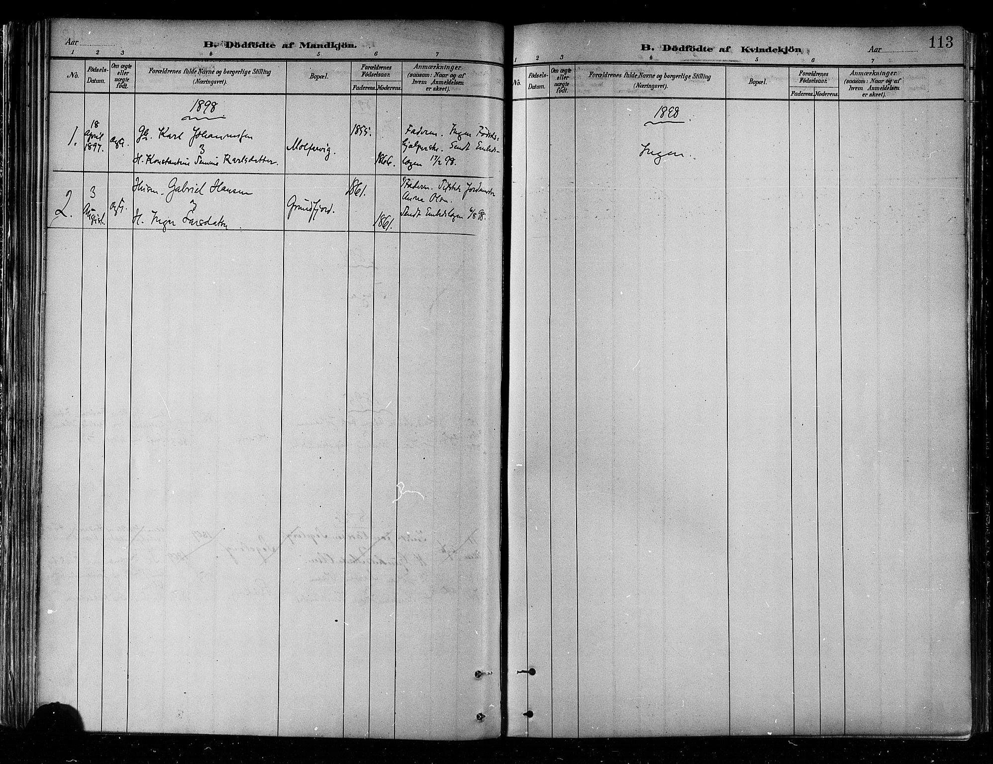 SATØ, Skjervøy sokneprestkontor, H/Ha/Haa/L0010kirke: Ministerialbok nr. 10, 1887-1898, s. 113