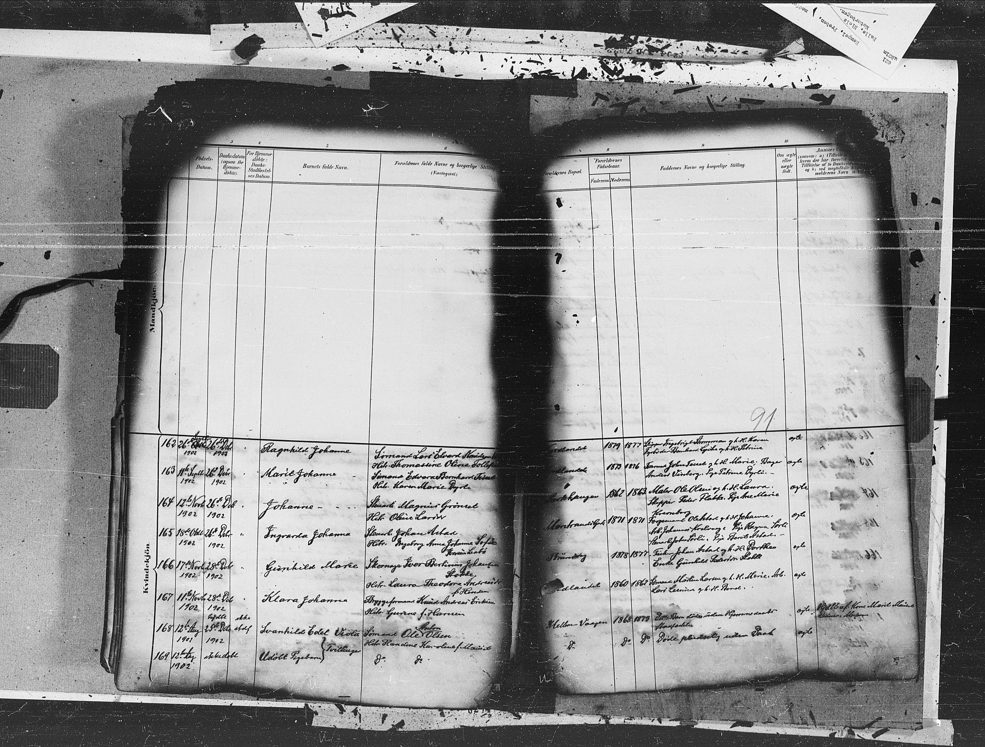 SAT, Ministerialprotokoller, klokkerbøker og fødselsregistre - Møre og Romsdal, 572/L0855: Ministerialbok nr. 572A18, 1898-1913, s. 91