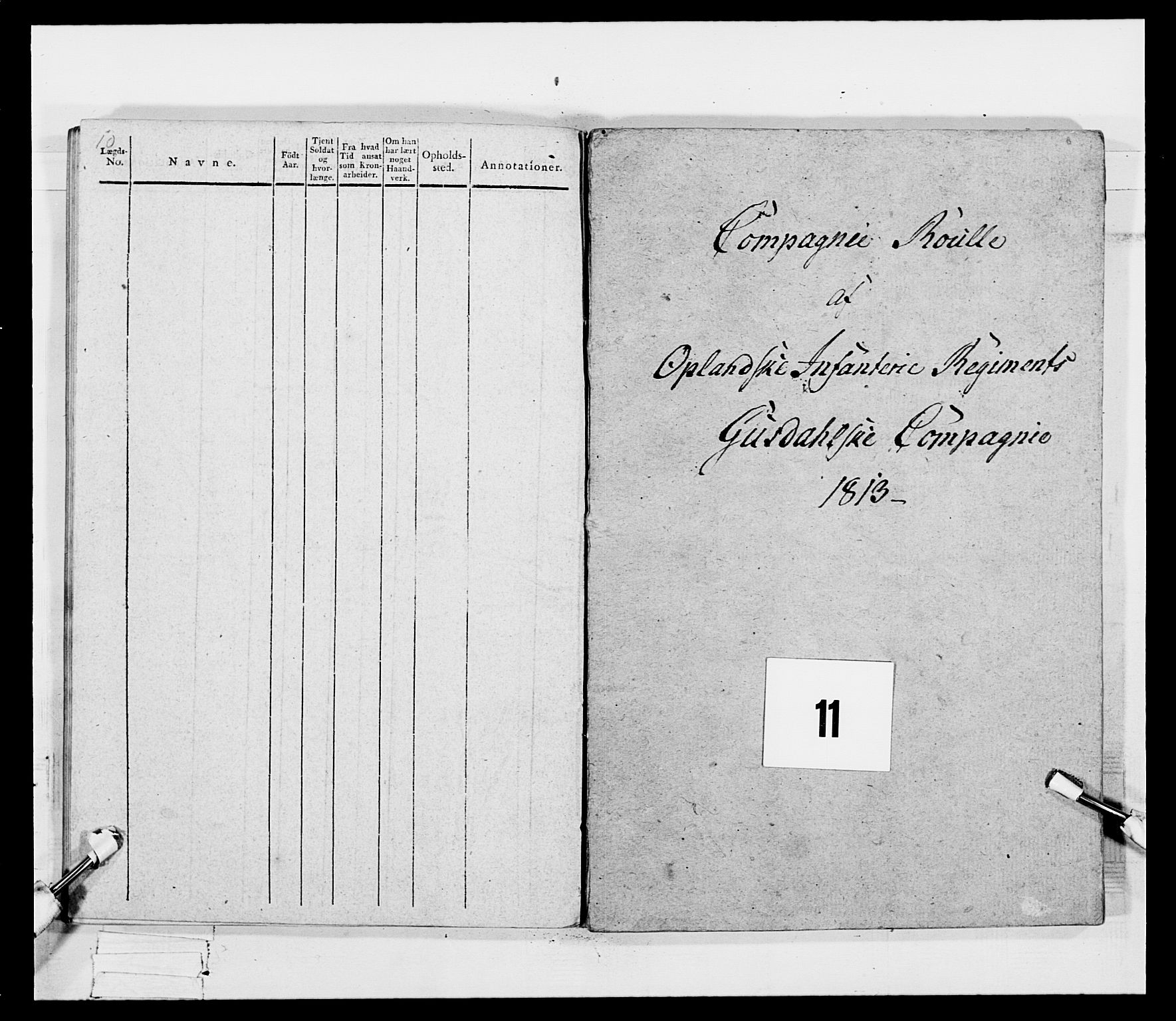 RA, Generalitets- og kommissariatskollegiet, Det kongelige norske kommissariatskollegium, E/Eh/L0069: Opplandske gevorbne infanteriregiment, 1810-1818, s. 514