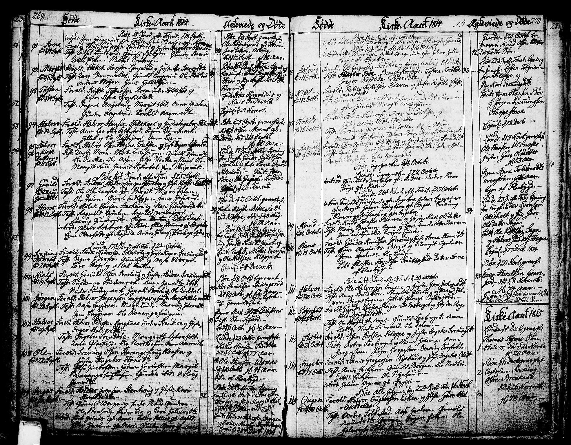 SAKO, Bø kirkebøker, F/Fa/L0005: Ministerialbok nr. 5, 1785-1815, s. 269-270